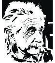 Albert Einstein Portrain Wall Sticker – Decal – Plain