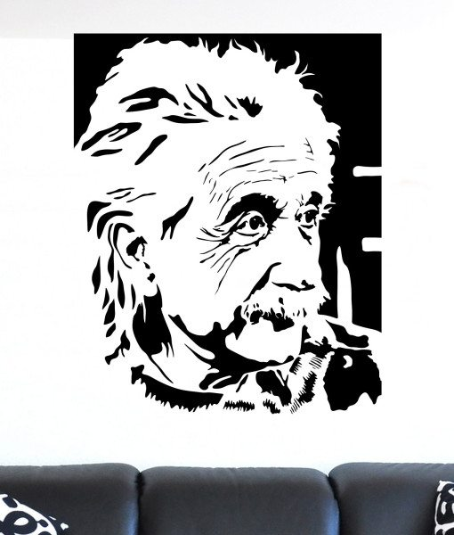 Albert Einstein Portrain Wall Sticker – Decal – a