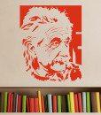 Albert Einstein Portrain Wall Sticker – Decal – c