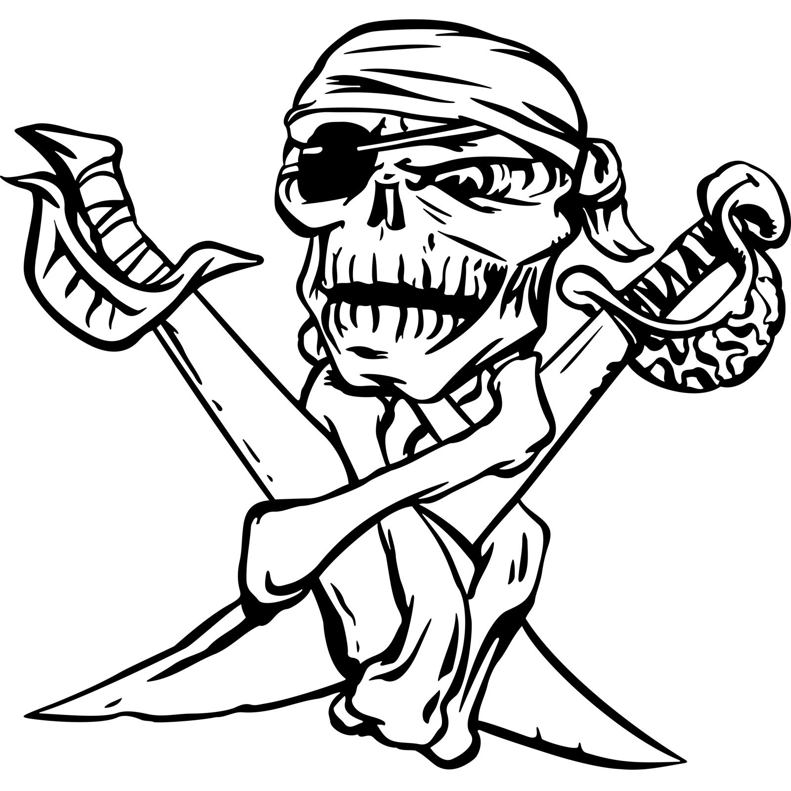cool skull and cross swords pirate wall sticker world of wall