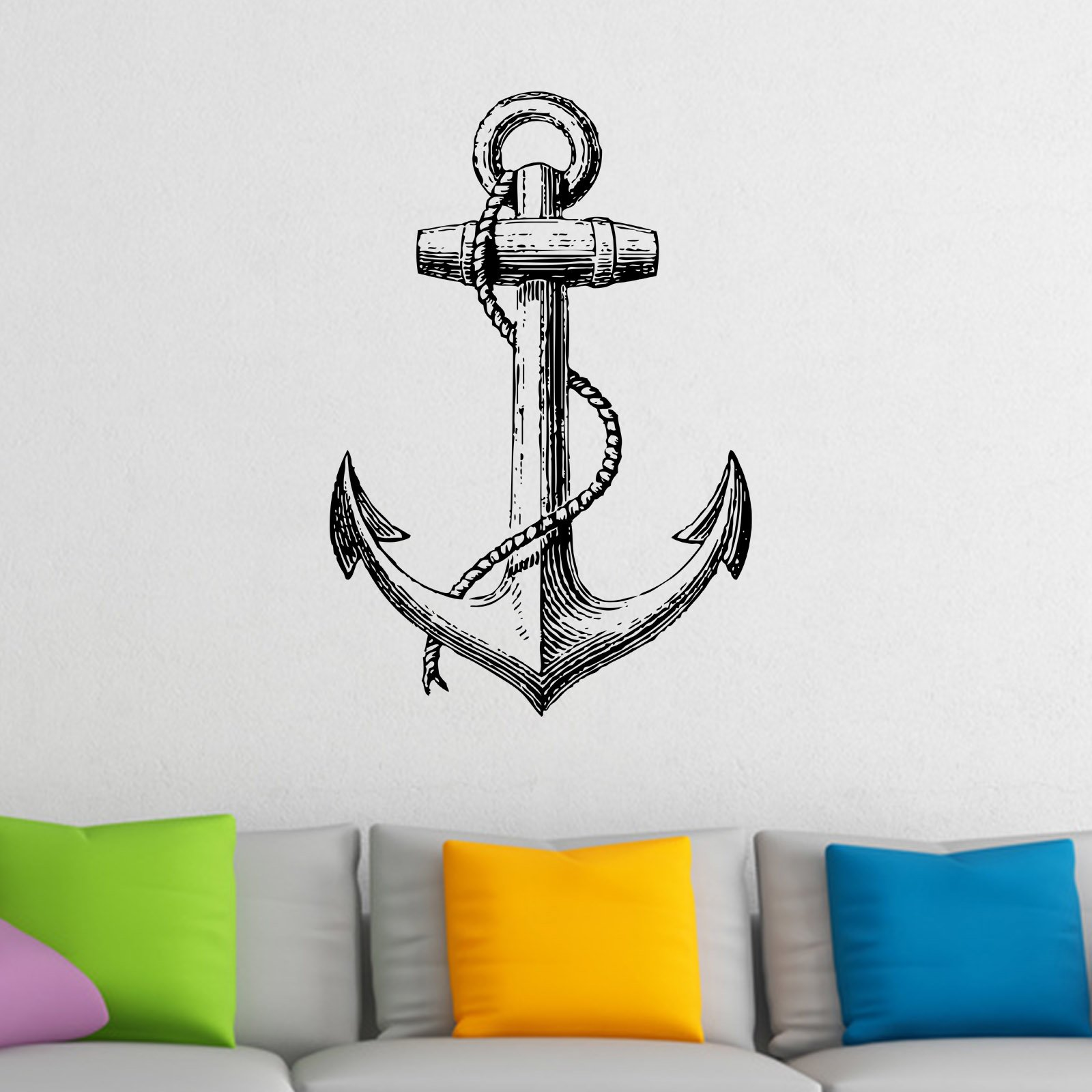Vintage anchor nautical wall sticker world of wall stickers vintage anchor nautical wall sticker decal a amipublicfo Image collections
