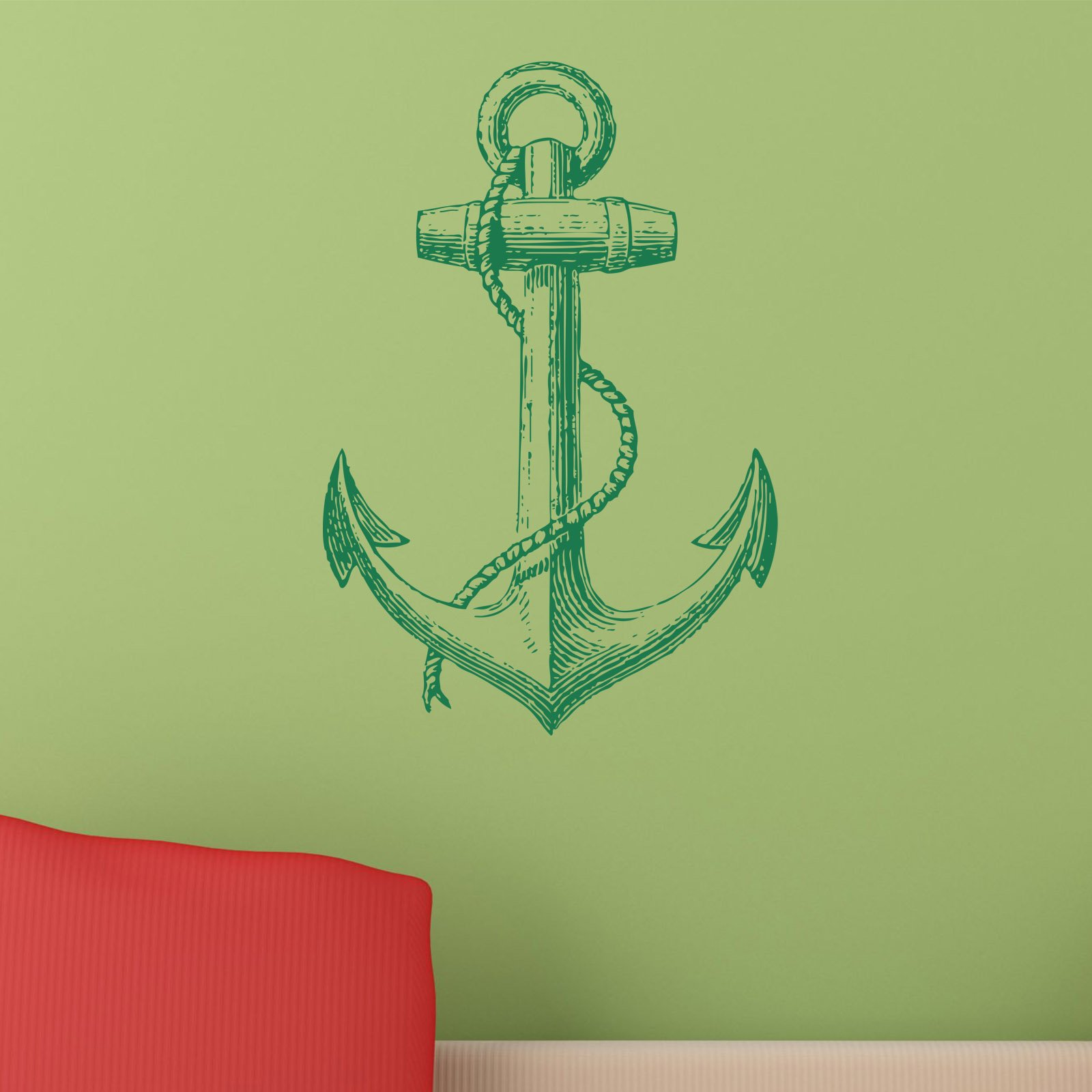 vintage anchor nautical wall sticker world of wall stickers