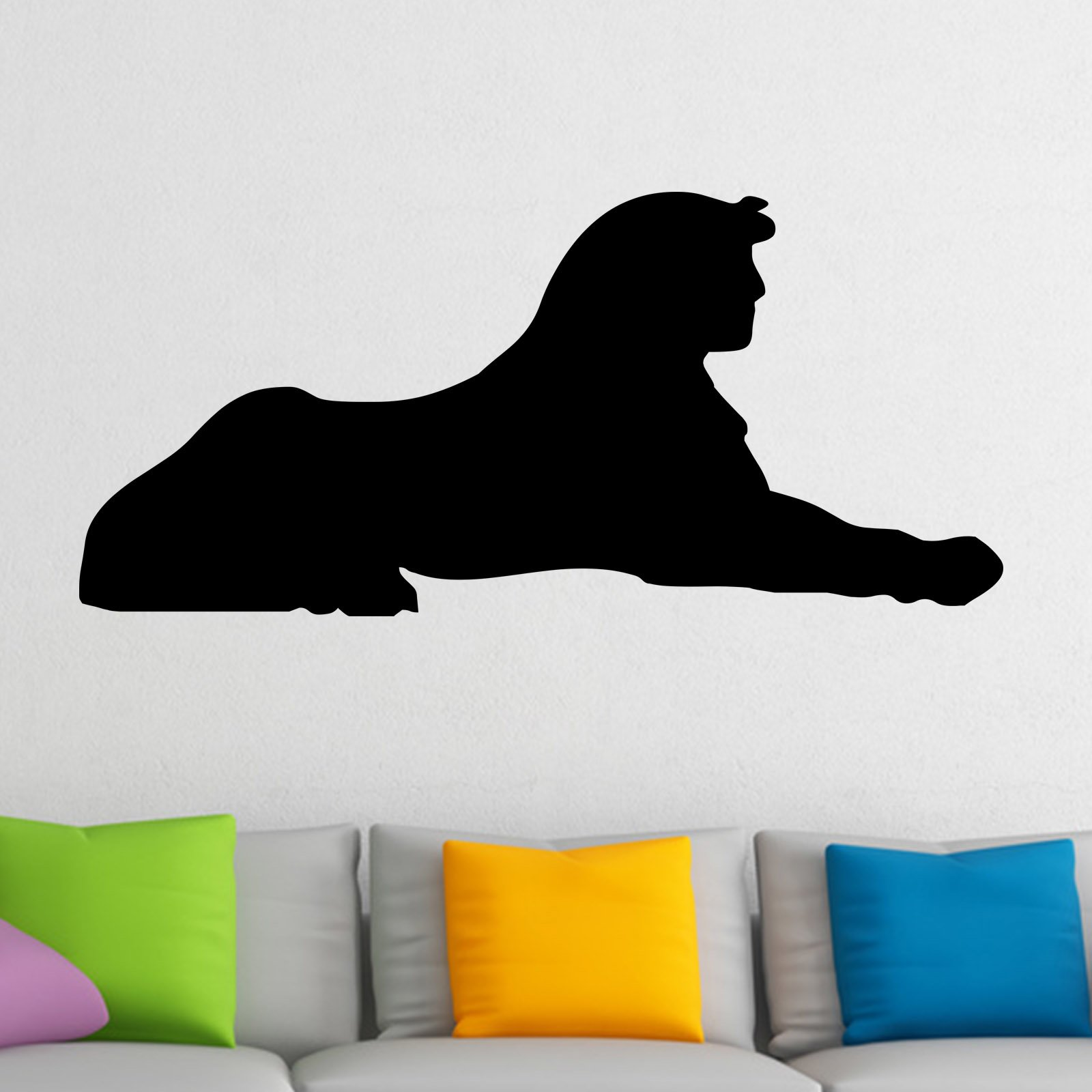 Sphinx egyptian silhouette wall sticker world of wall stickers sphinx egyptian silhouette wall sticker decal a amipublicfo Image collections