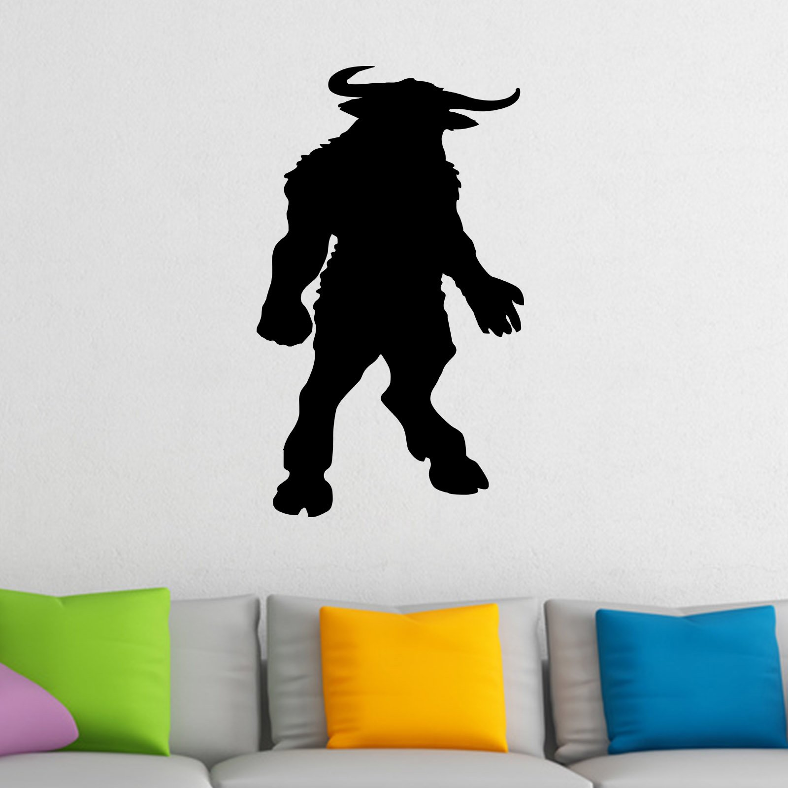 Minotaur mythical creature silhouette wall sticker world of wall minotaur mythical creature silhouette wall sticker decal a amipublicfo Image collections