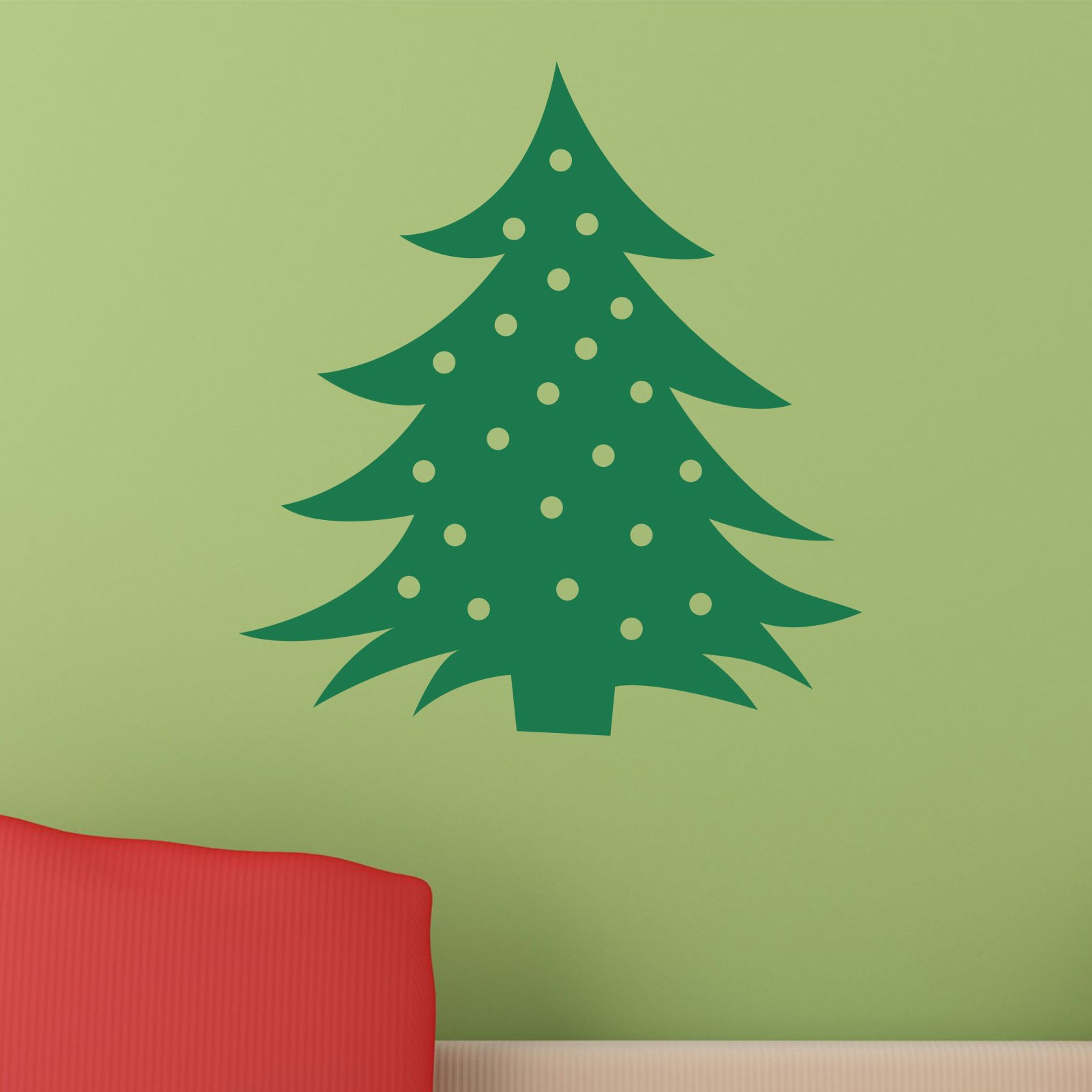 christmas tree with baubles wall sticker world of wall fabric patterned christmas tree wall sticker by spin