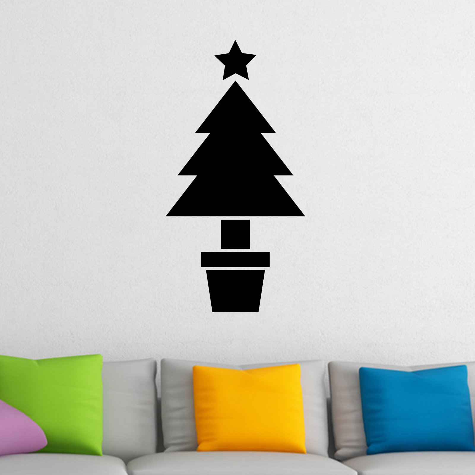 Christmas tree in pot wall sticker world of wall stickers christmas tree in pot wall sticker decal a amipublicfo Choice Image