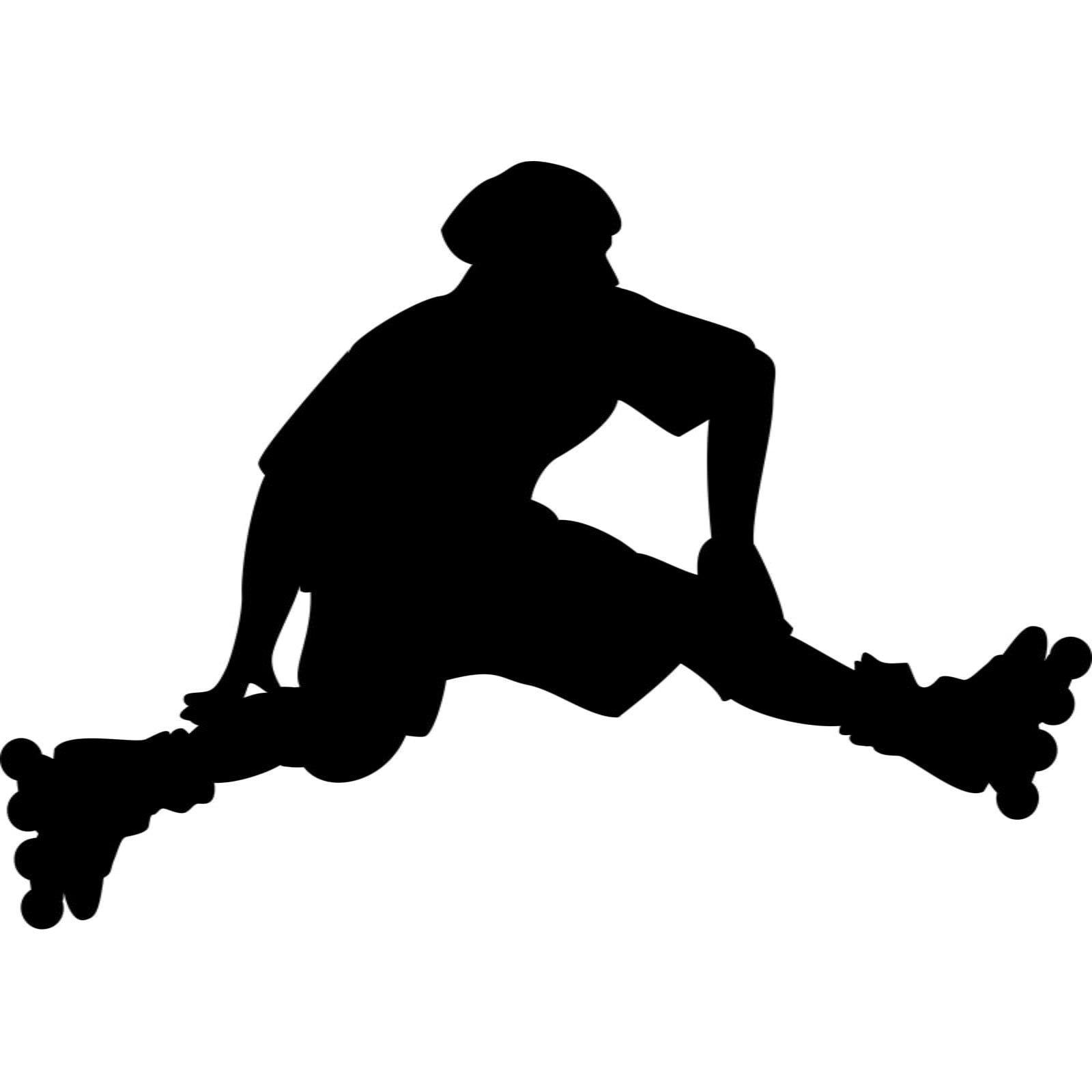 Roller Skater Jump Sports Wall Sticker