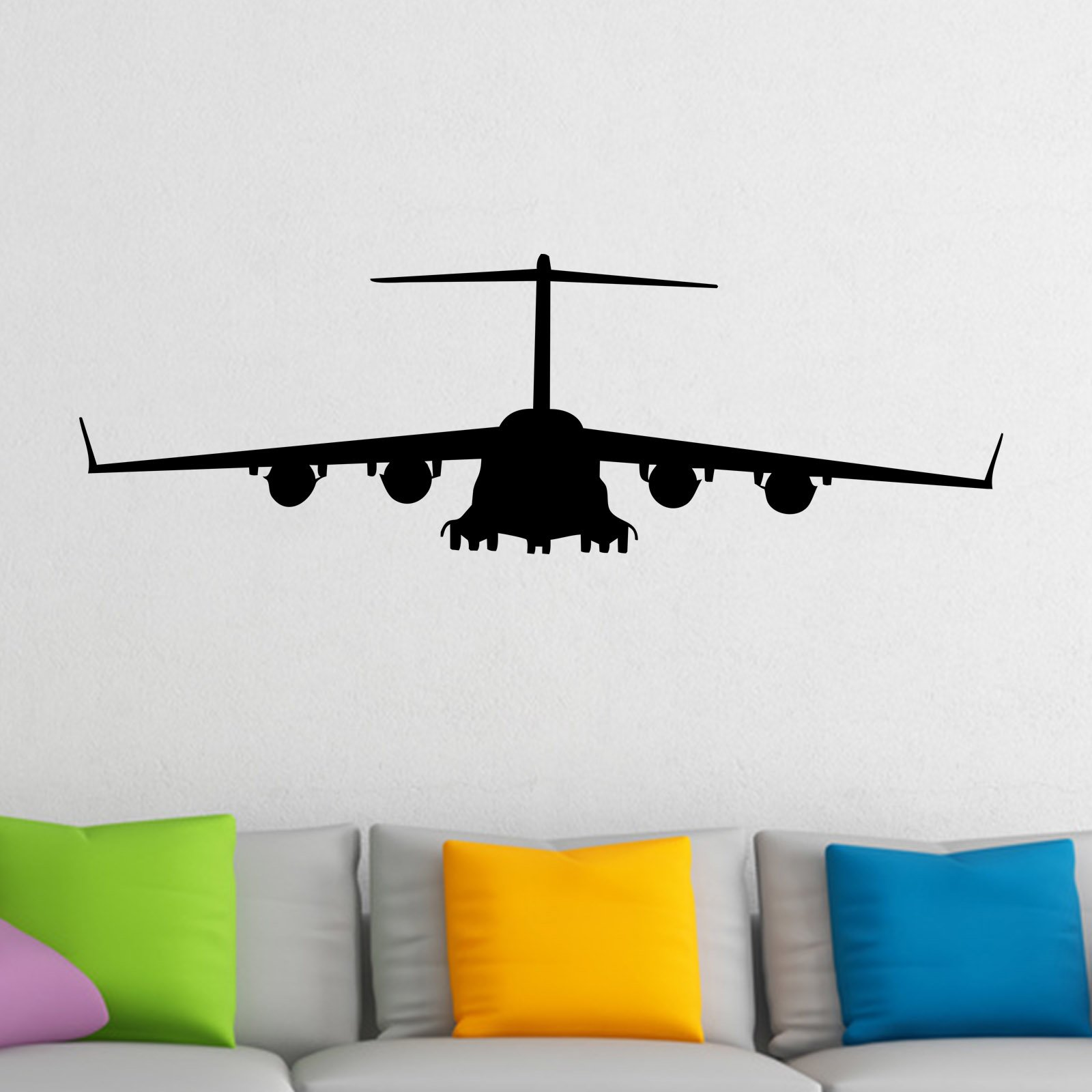 plane flying front wall sticker world of wall stickers