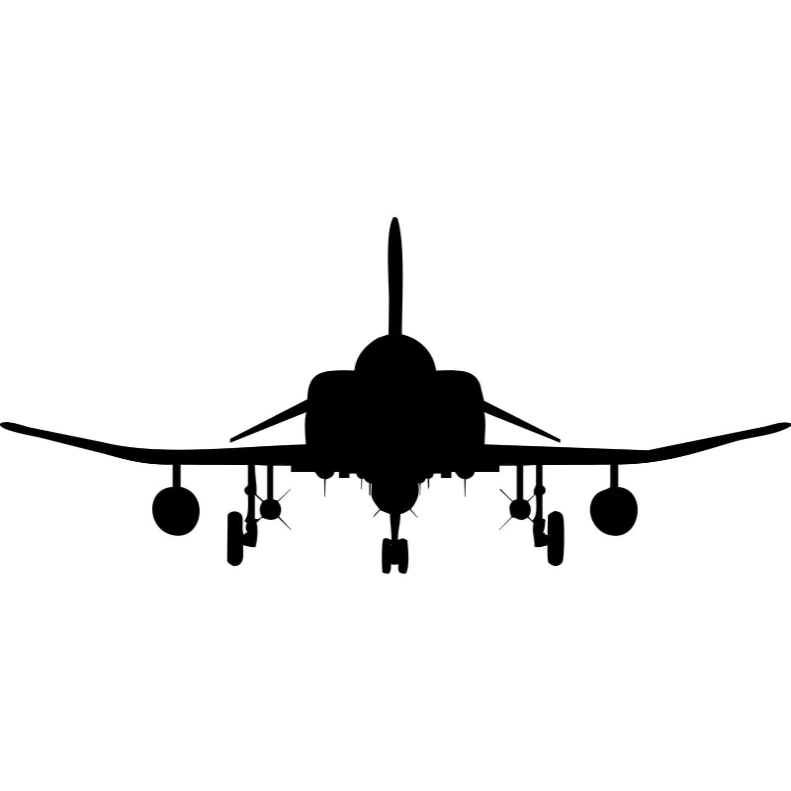 Fighter Jet Front Silhouette Wall Sticker World of Wall Stickers