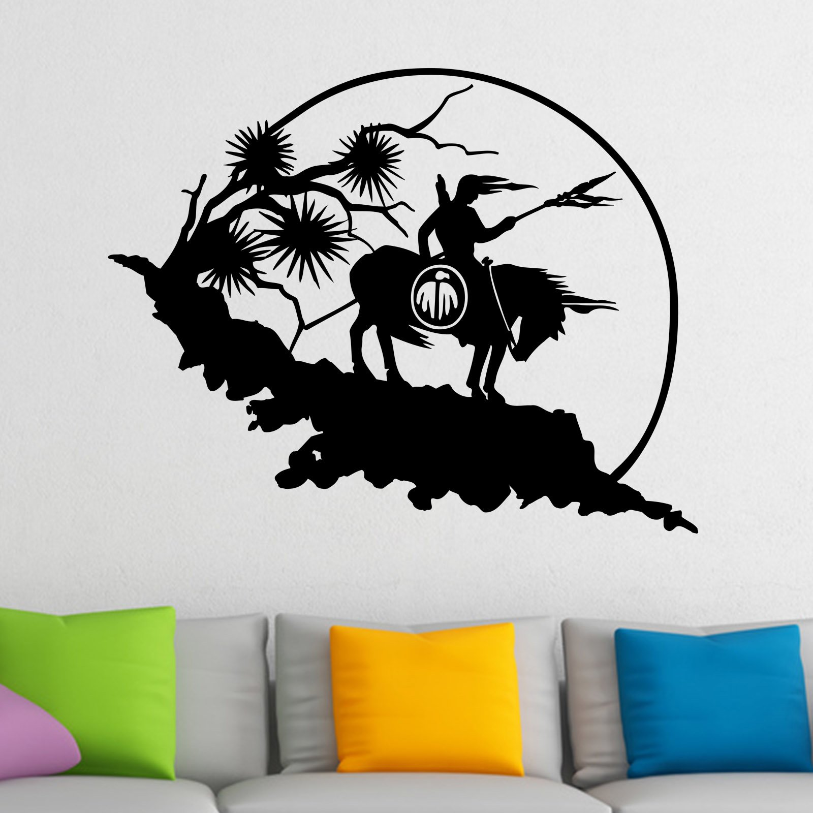 Native american indain on horse wall sticker world of wall stickers native american indain on horse wall sticker decal a amipublicfo Choice Image