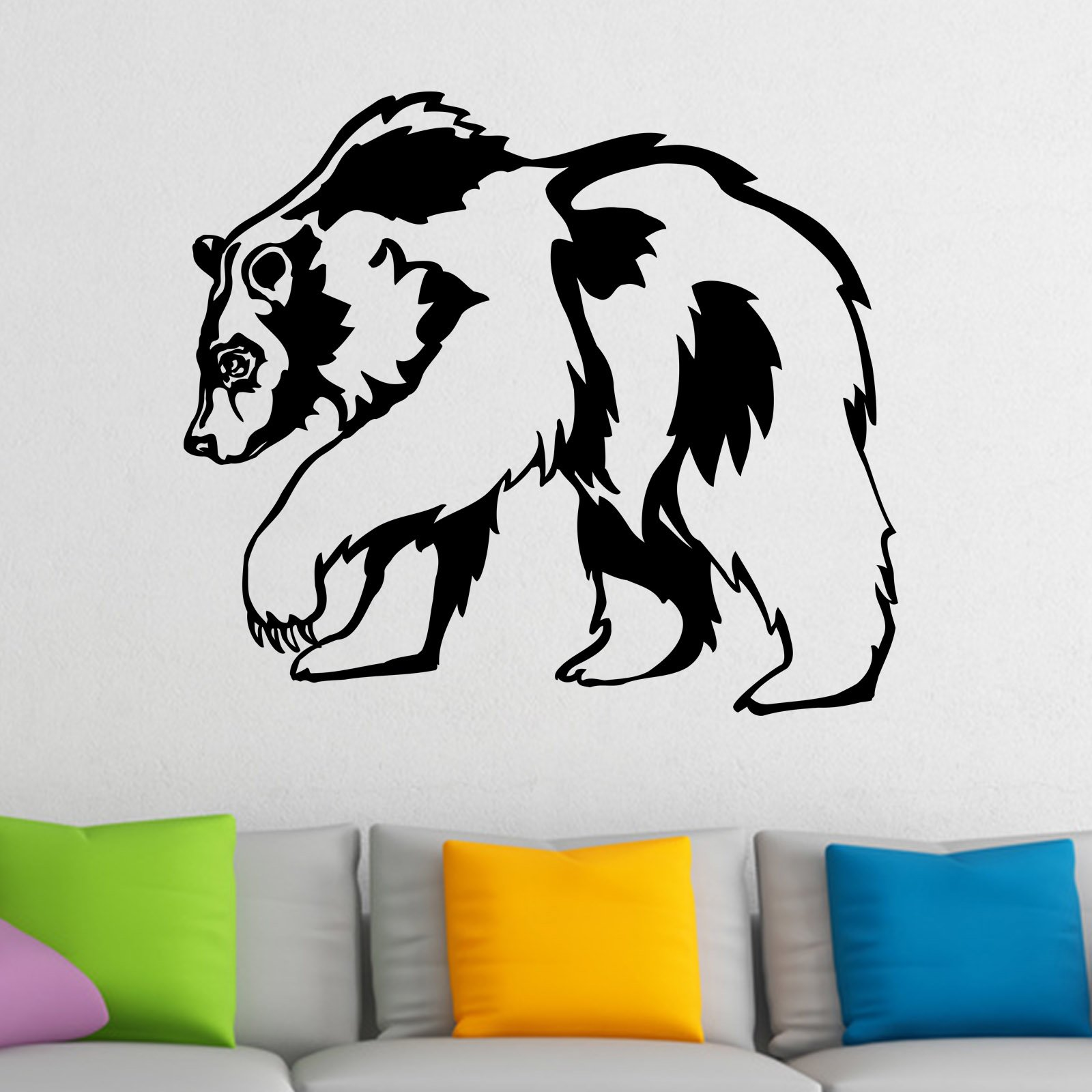 grizzly bear animal wall sticker world of wall stickers kids wall decal bear nursery decor by leolittlelion on etsy