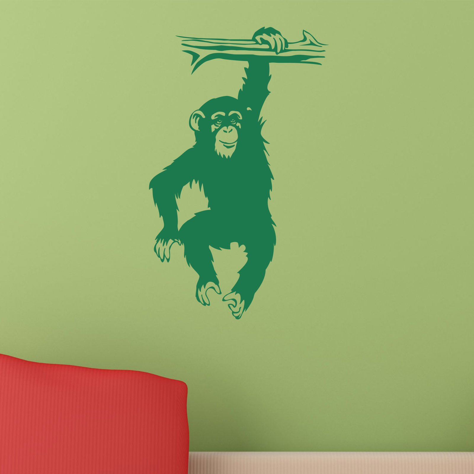 monkey hanging from branch chimp ape animal wall sticker world monkey hanging from branch chimp ape animal wall sticker world of wall stickers