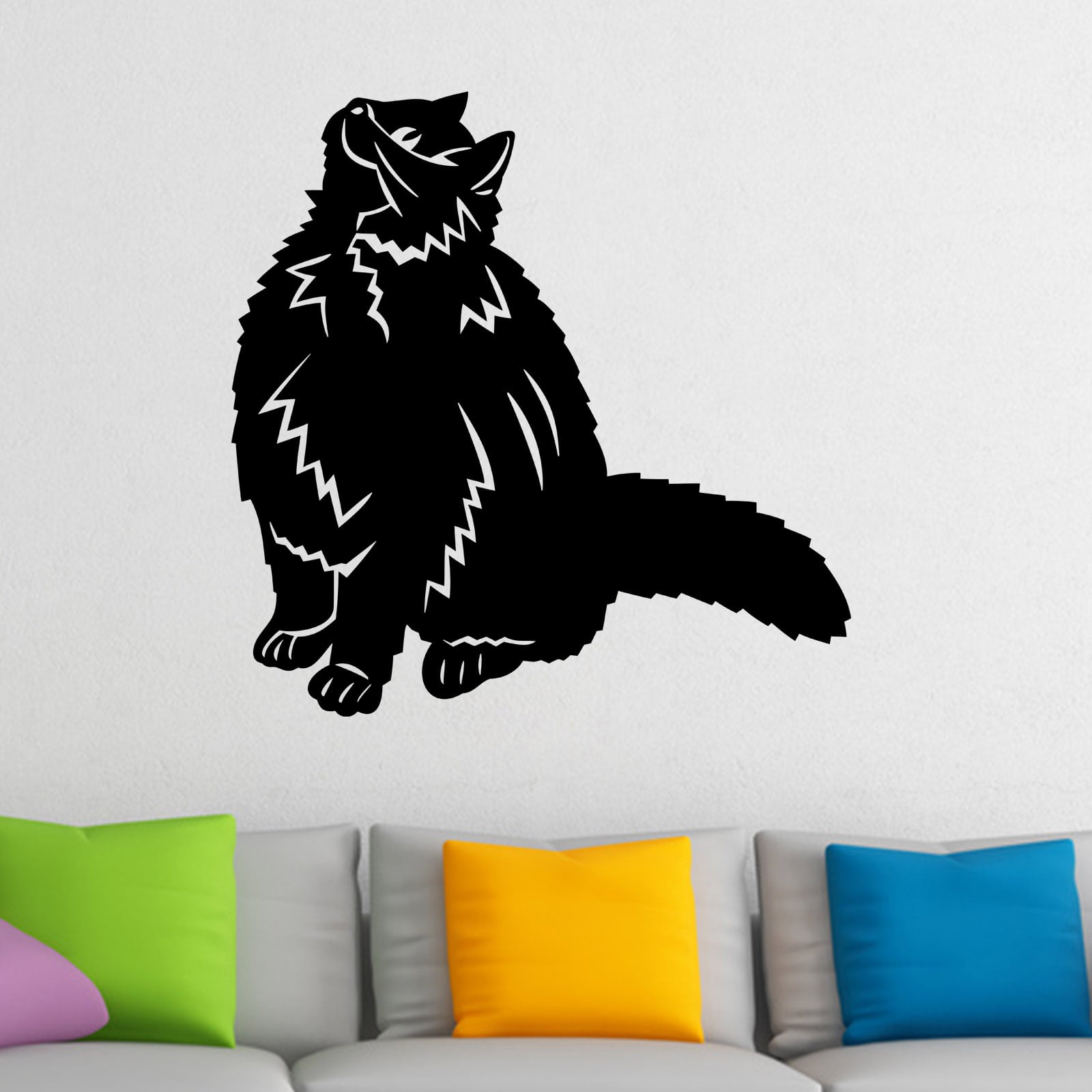 Happy cat looking up animal wall sticker world of wall stickers happy cat looking up animal wall sticker decal a amipublicfo Gallery