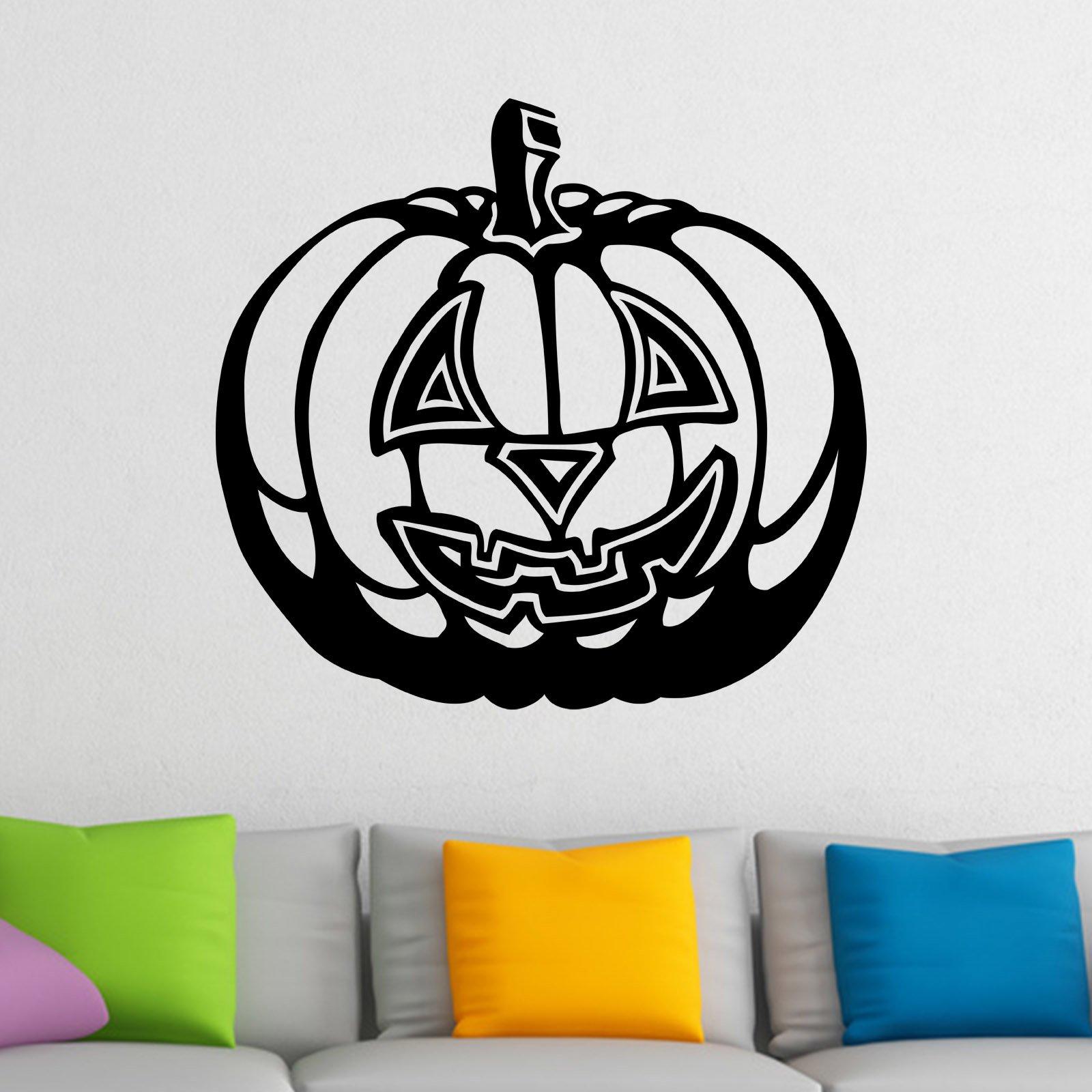 fancy pumpkin halloween wall sticker world of wall stickers