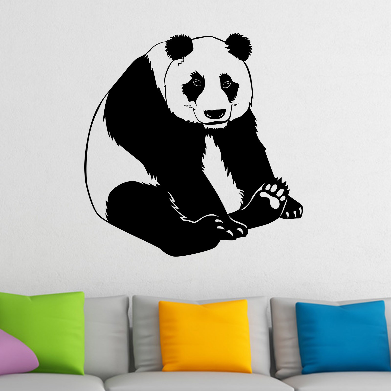 happy panda bear animal wall sticker world of wall stickers happy panda bear animal wall sticker decal a