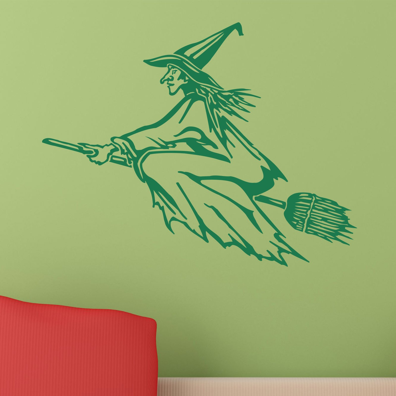 fancy witch on broomstick halloween wall sticker world of wall fancy witch on broomstick halloween wall sticker world of wall stickers