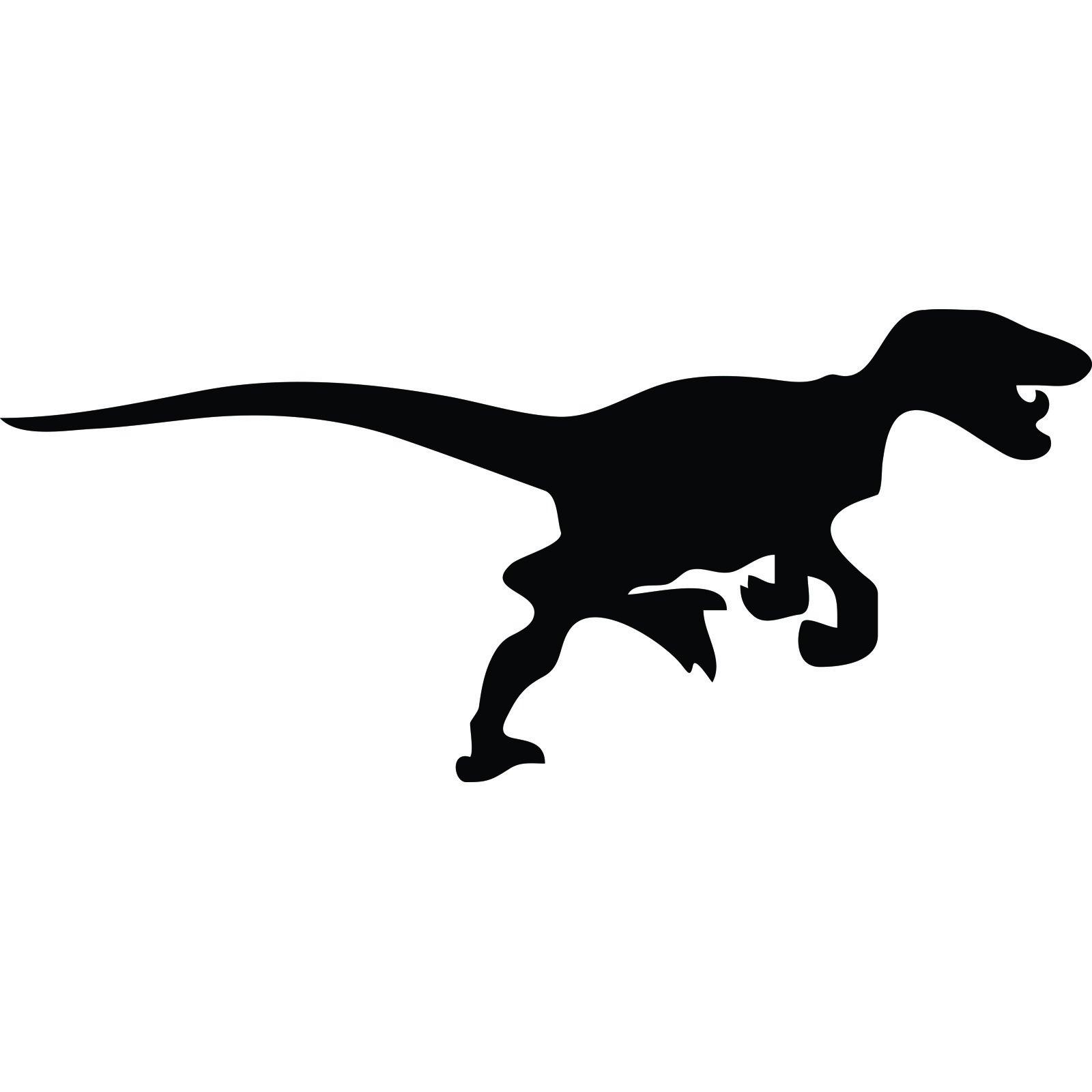 Velociraptor Dinosaur Silhouette Wall Sticker World Of