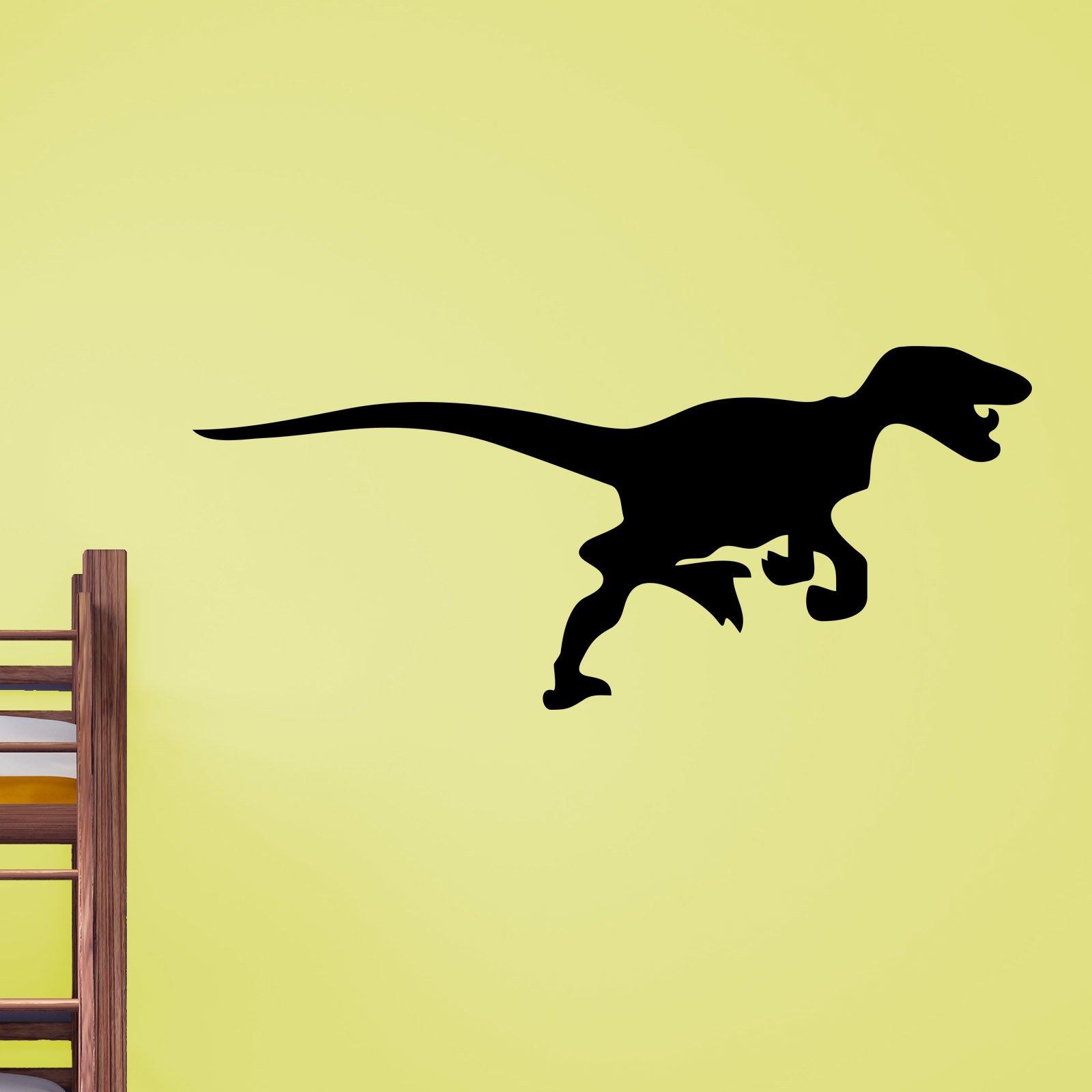 velociraptor dinosaur silhouette wall sticker world of wall stickers velociraptor dinosaur silhouette wall sticker decal a