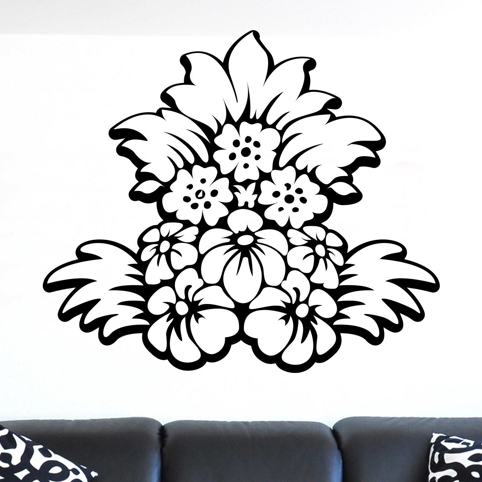 Arranged Flower Design Wall Sticker World of Wall Stickers