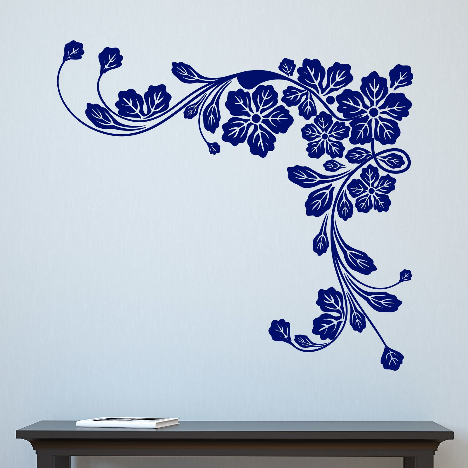 28 floral wall sticker unavailable listing on etsy wall floral wall sticker floral corner leaves wall sticker world of wall stickers