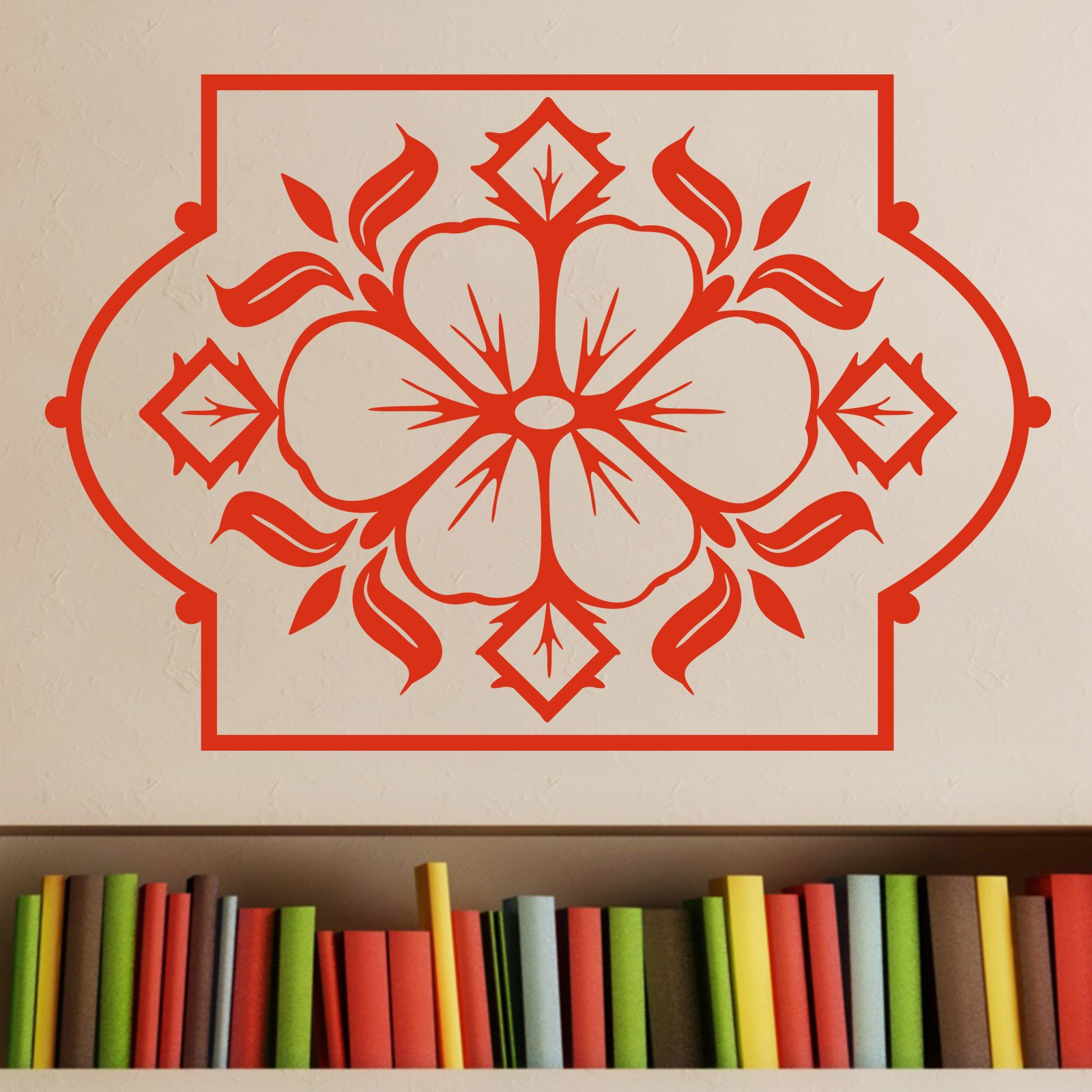Flower Design in Frame Wall Sticker World of Wall Stickers