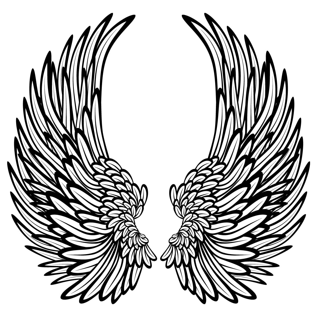 Decorative Angel Wings Wall Sticker World Of Wall Stickers