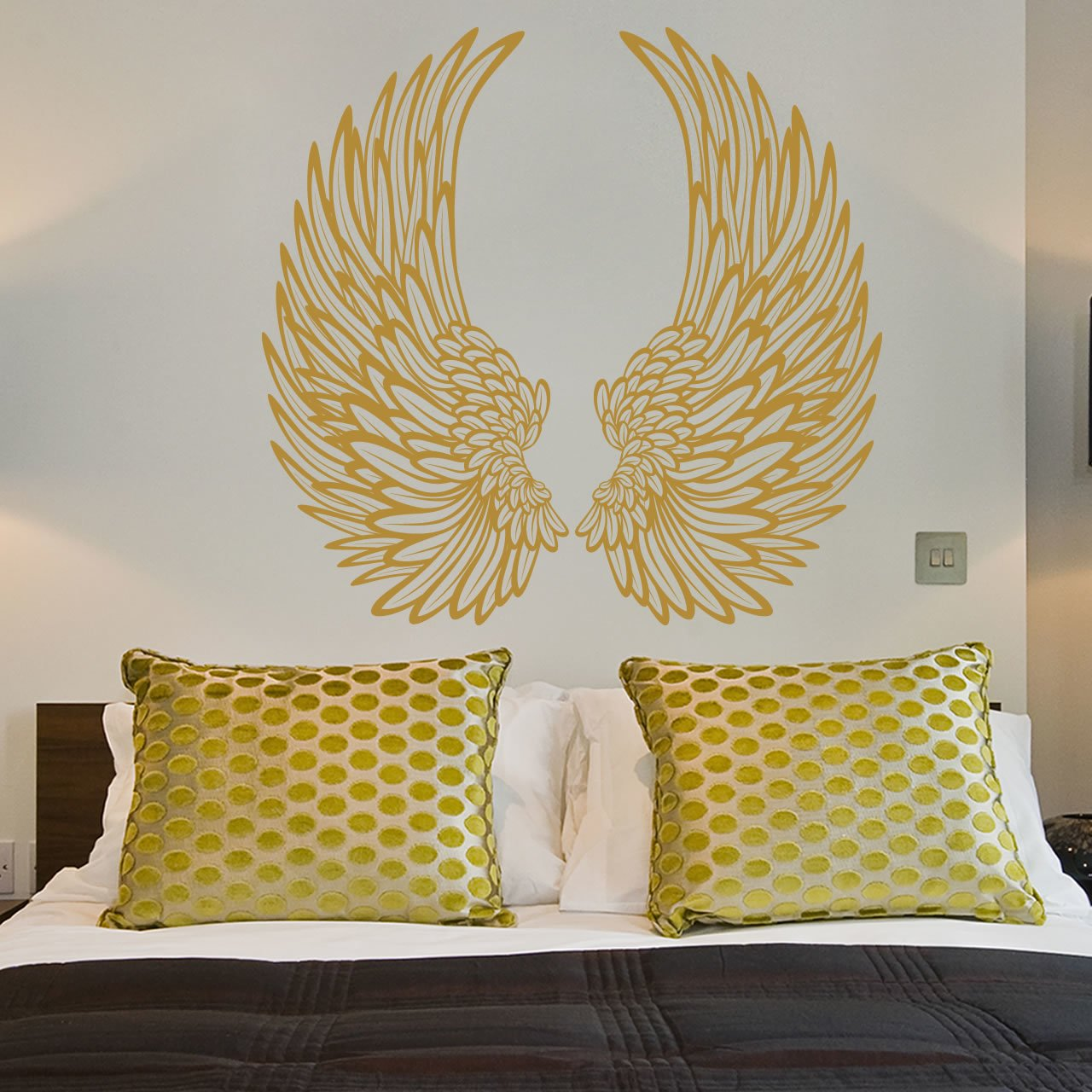 Decorative Angel Wings Wall Sticker - World of Wall Stickers
