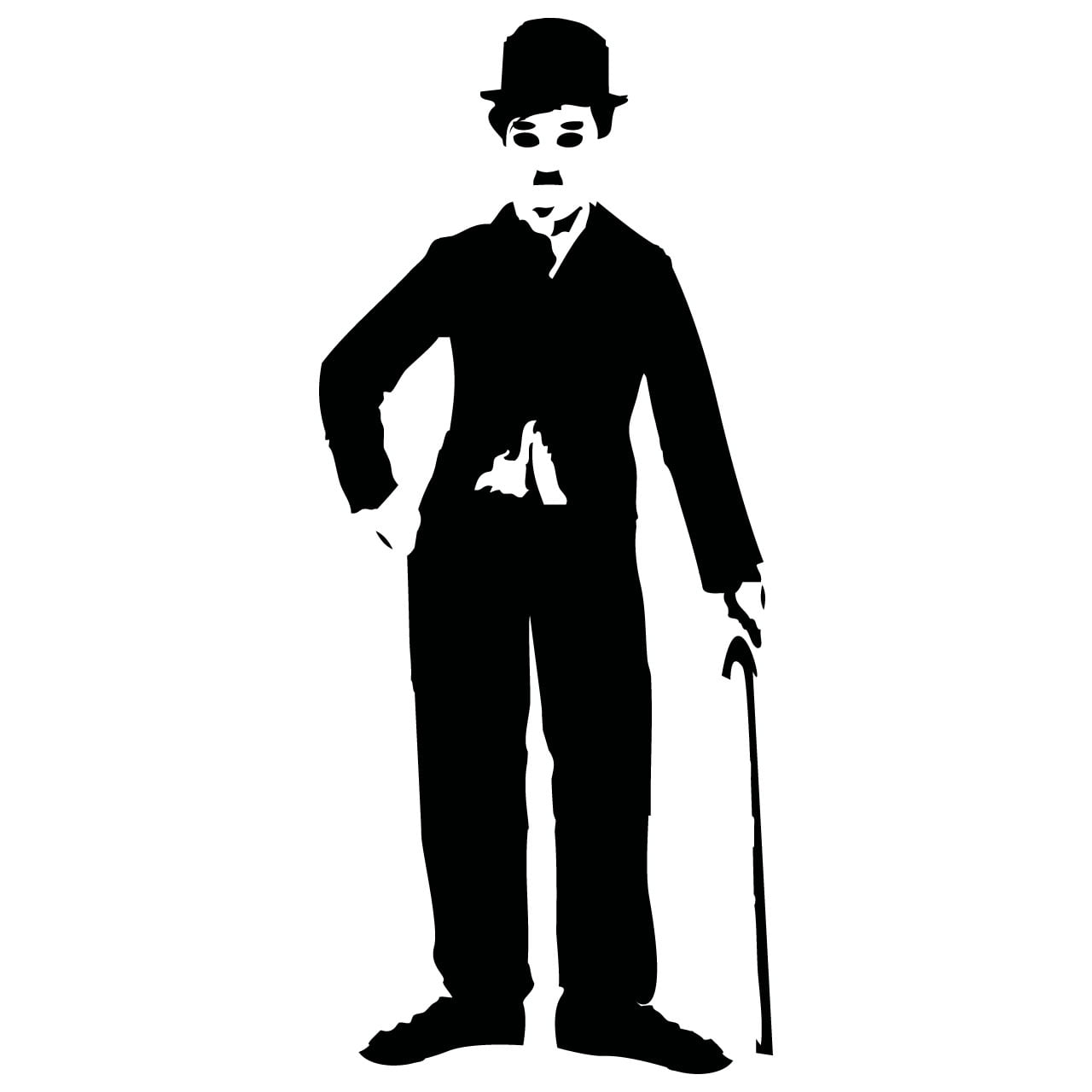 Charlie Chaplin Wall Sticker World Of Wall Stickers