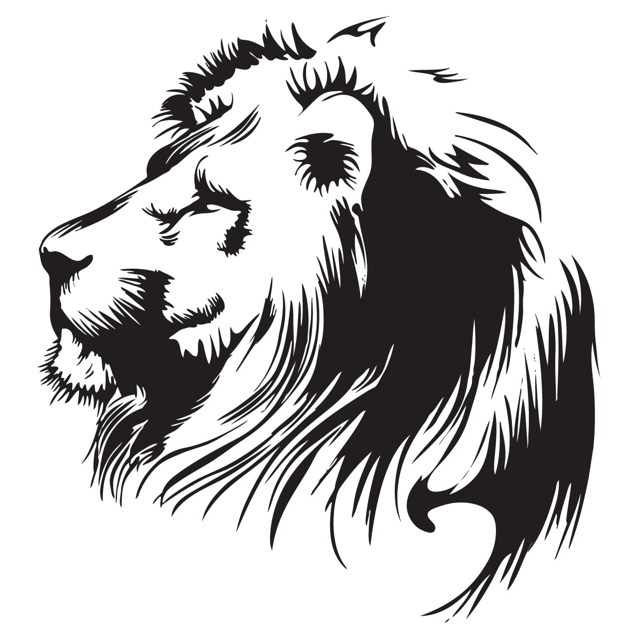 Lion head animal wall sticker world of wall stickers