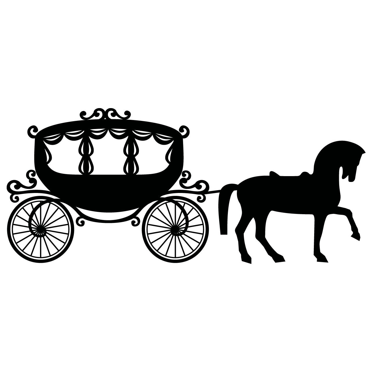 Fairytale Princess Carriage And Horse Childrens Wall