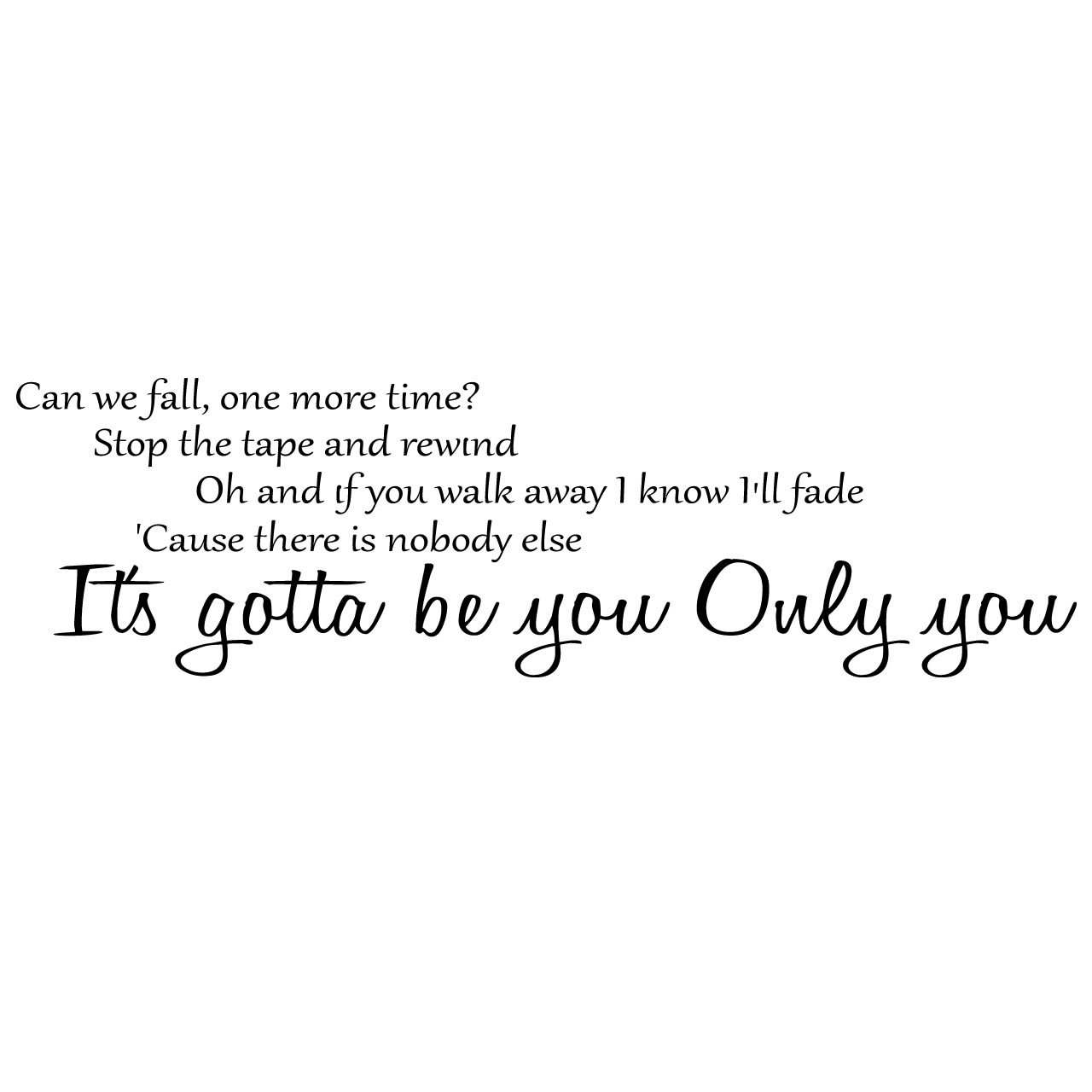 One Direction Gotta Be You Song Lyrics Wall Sticker