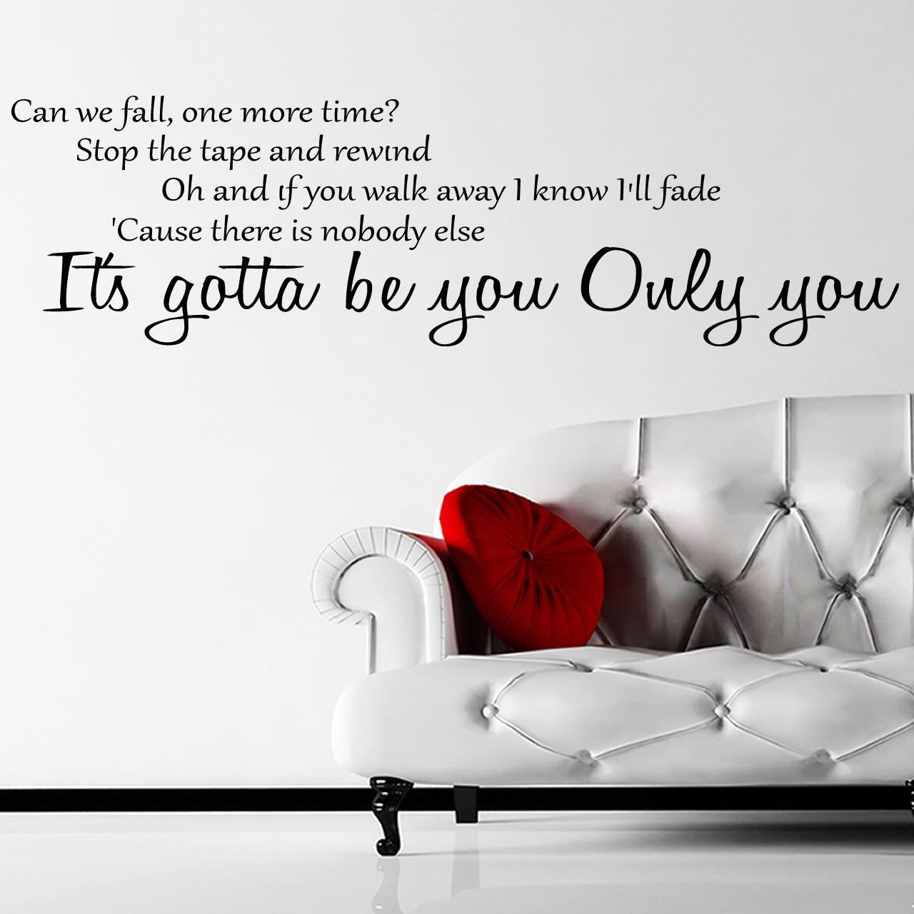 One Direction Gotta Be You Lyrics Wall Sticker U2013 Decal U2013 A
