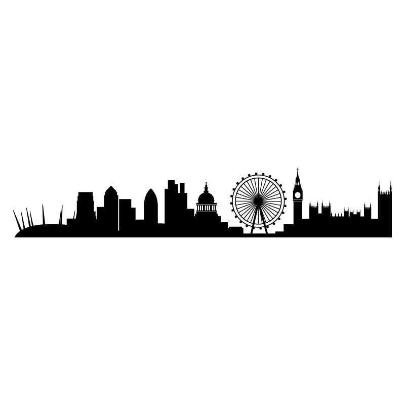 London Skyline Wall Sticker Decal World Of Wall Stickers