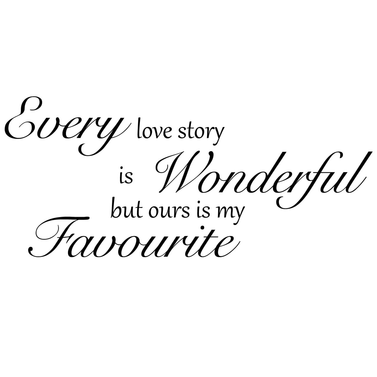 Love Story Quotes Our Love Story Quote Wall Sticker  World Of Wall Stickers