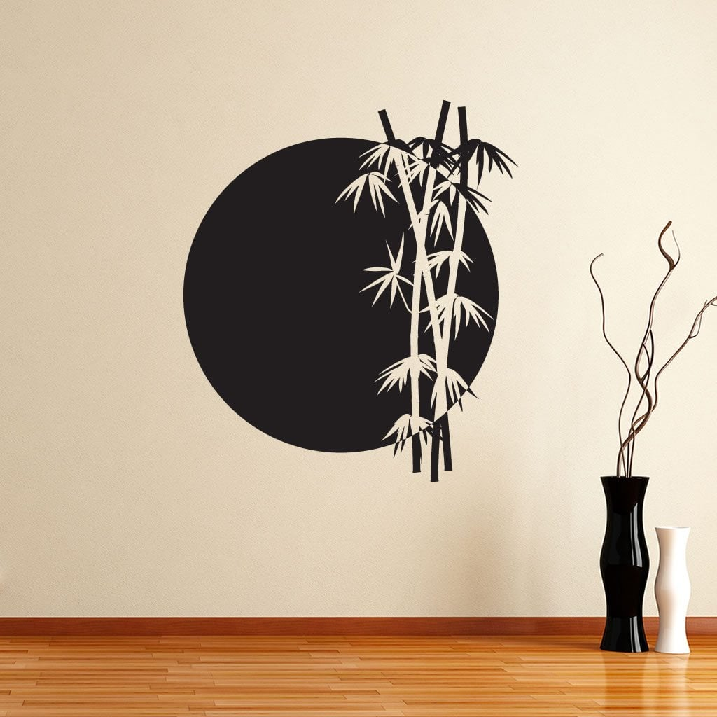 bamboo rising sun japanese chinese wall sticker decal. Black Bedroom Furniture Sets. Home Design Ideas