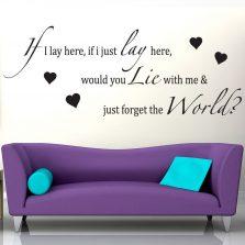 JLS Take A Chance On Me Song Lyrics Wall Sticker / Decal