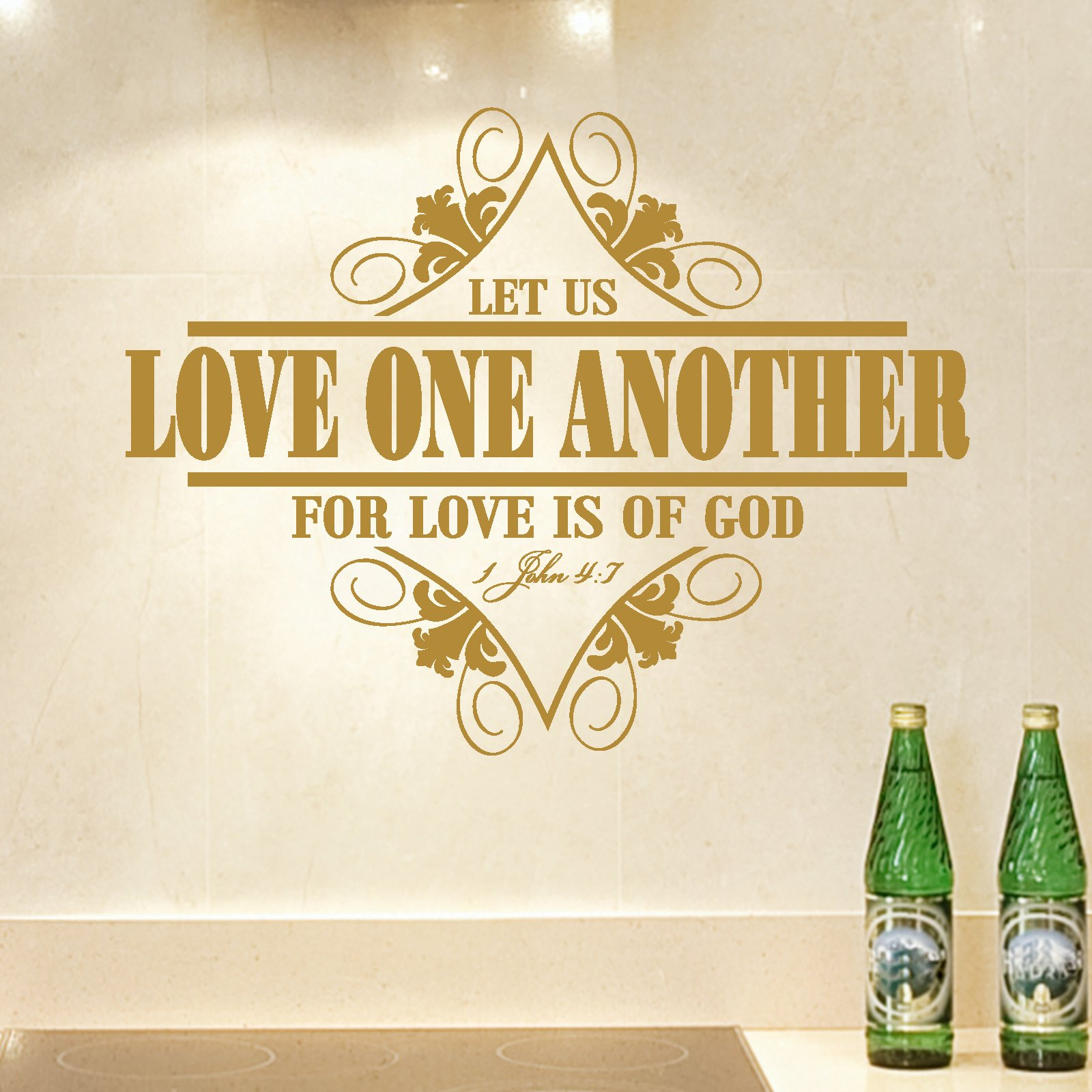 Love One Another Quotes Sayings: Love One Another Religious Quote Wall Sticker