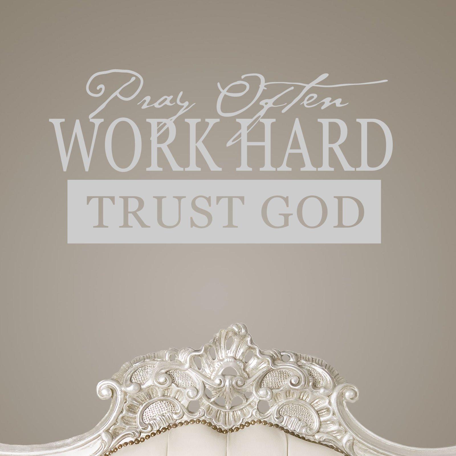 Chinese Symbols For Trust Pray Often Work Hard T...