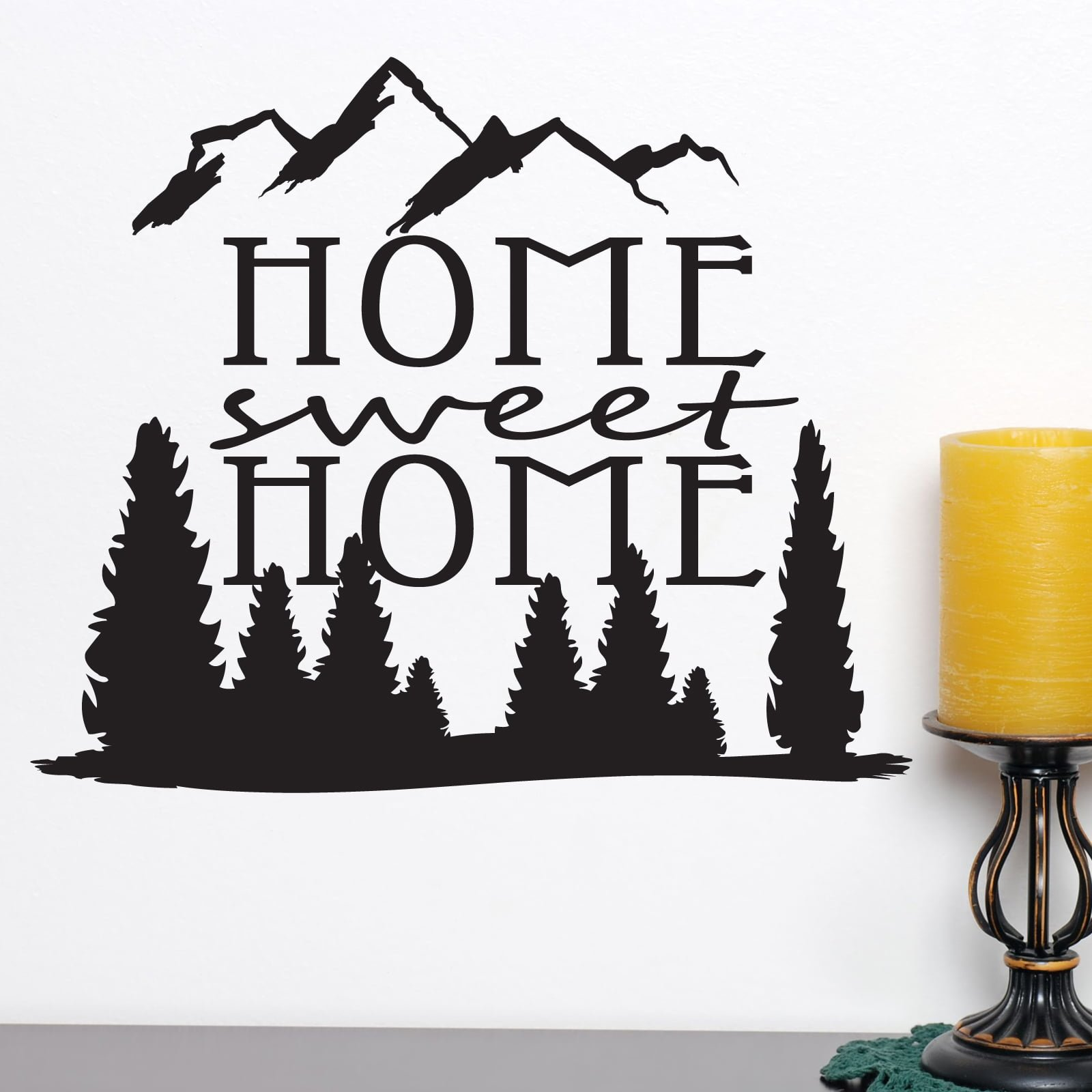home sweet home quote wall sticker world of wall stickers. Black Bedroom Furniture Sets. Home Design Ideas