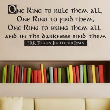 One Ring To Rule Them All Quote Wall Sticker Decal
