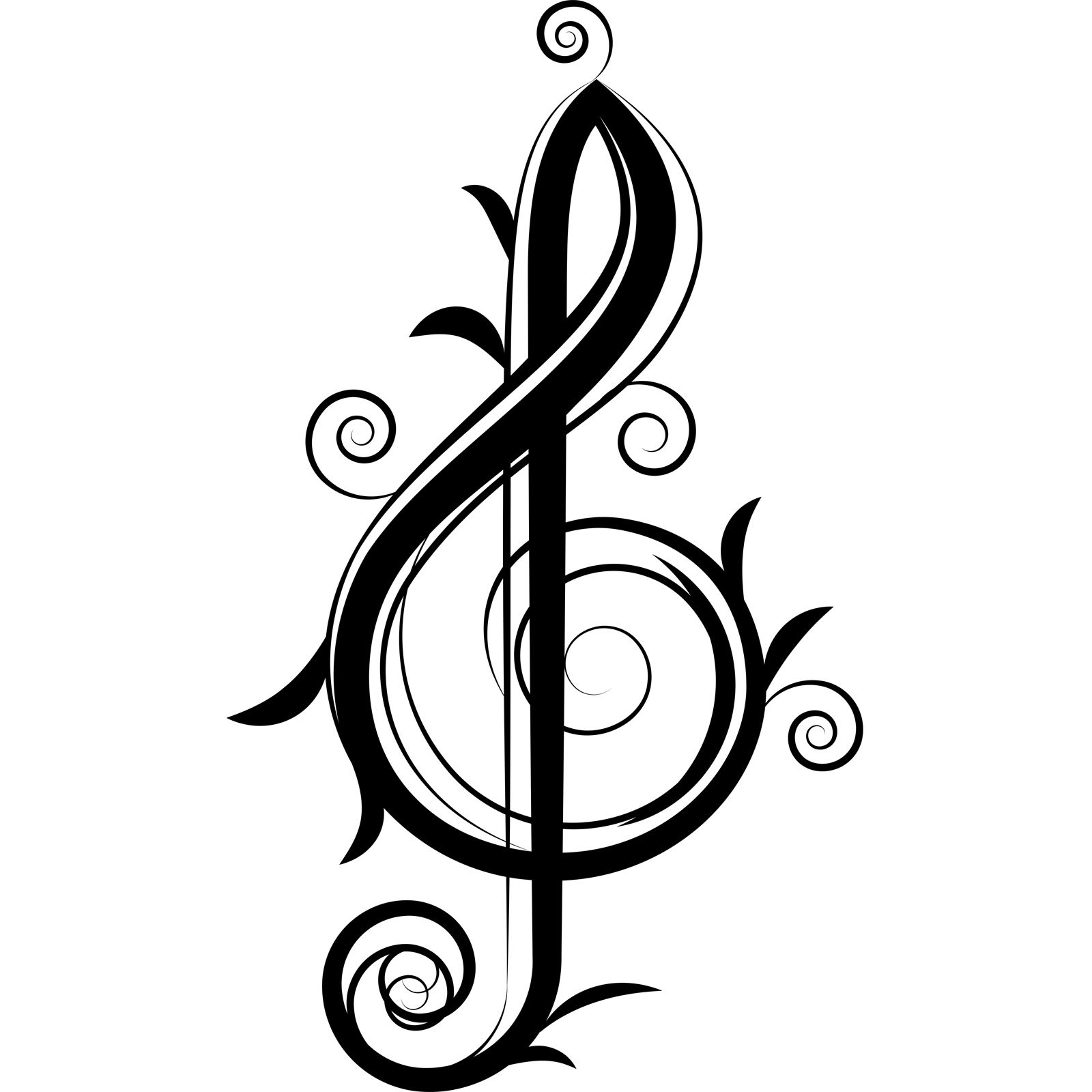 Fancy Teble Clef Musical Wall Sticker World of Wall Stickers : 11472 Size from world-of-wall-stickers.com size 1600 x 1600 jpeg 170kB