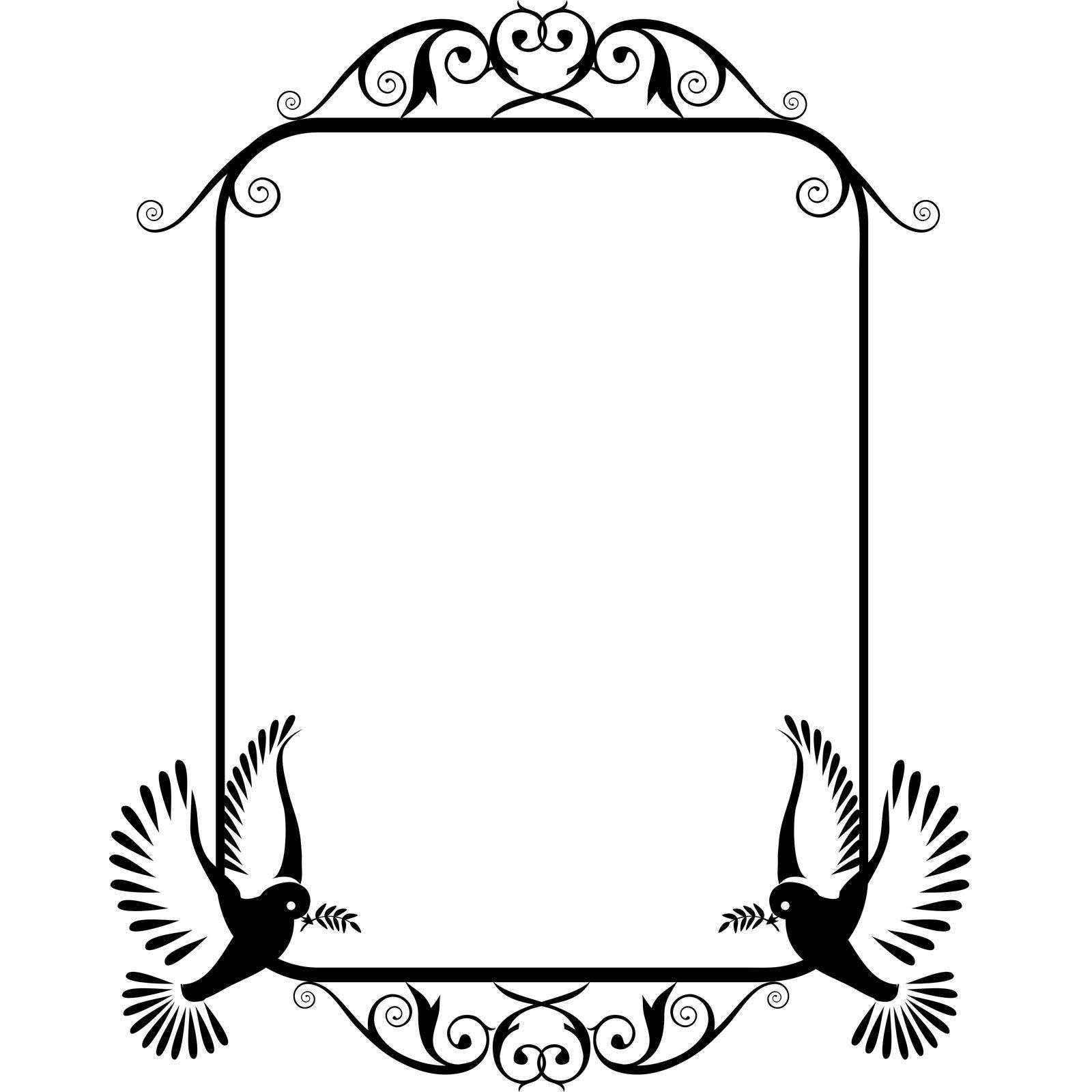 Bird Frame Frame Wall Sticker - World of Wall Stickers