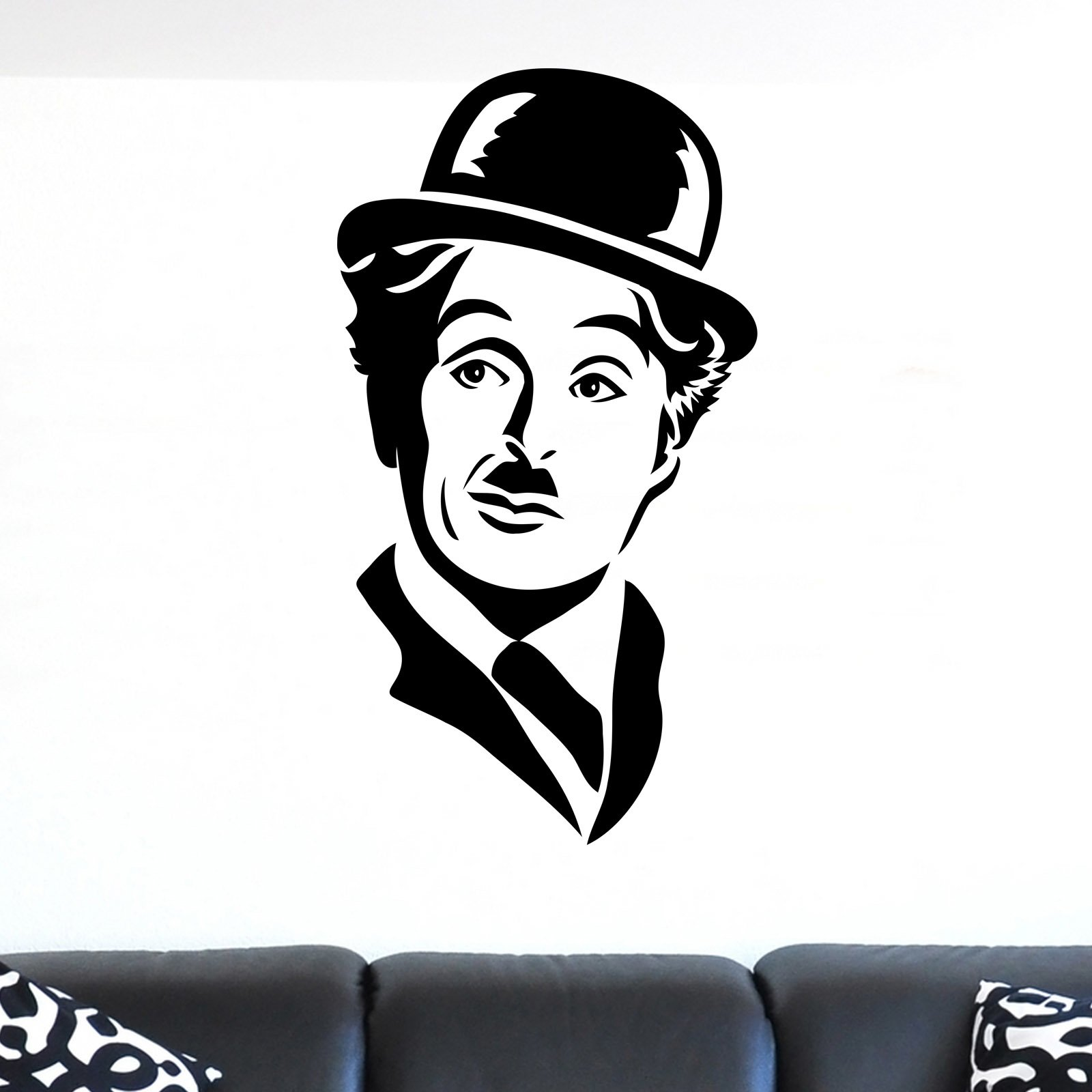 Charlie Chaplin Face Portrait Wall Sticker World of Wall Stickers