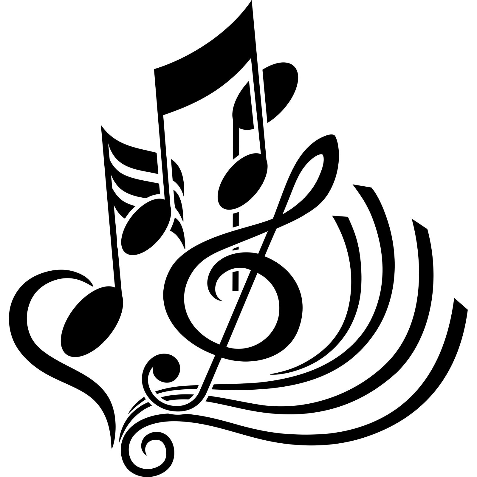 Treble Clef Notes Abstract Musical Wall Sticker World Of