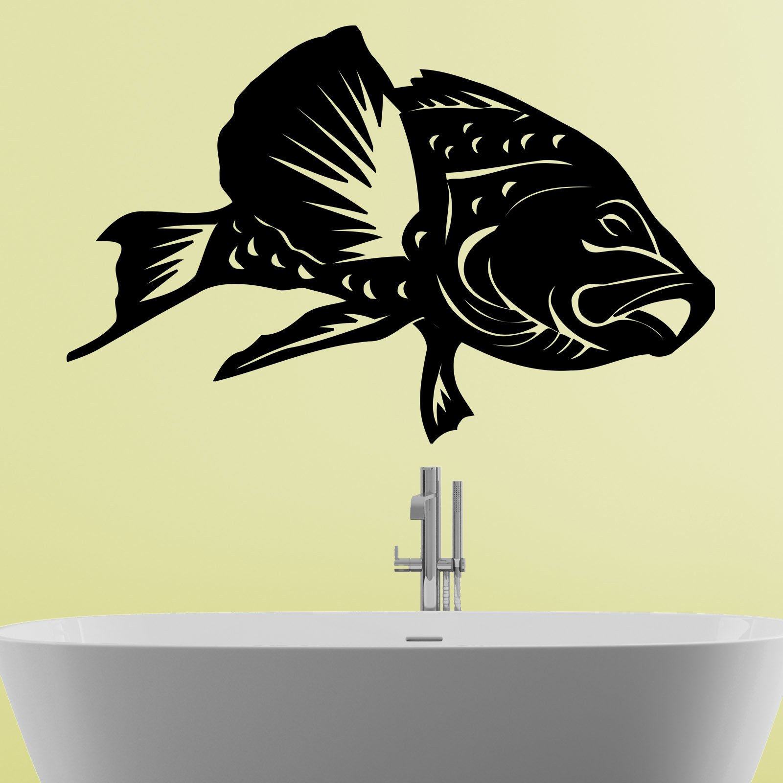 fish bathroom wall sticker world of wall stickers