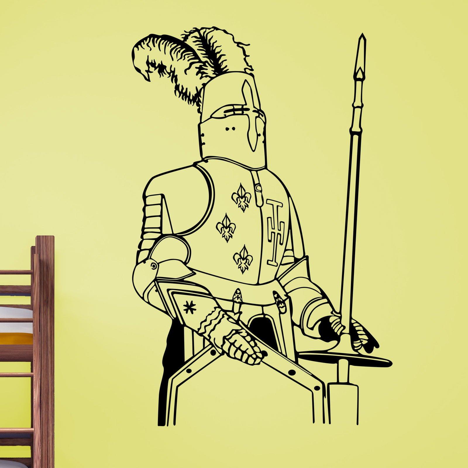 Knight Stood Kids Wall Sticker - World of Wall Stickers