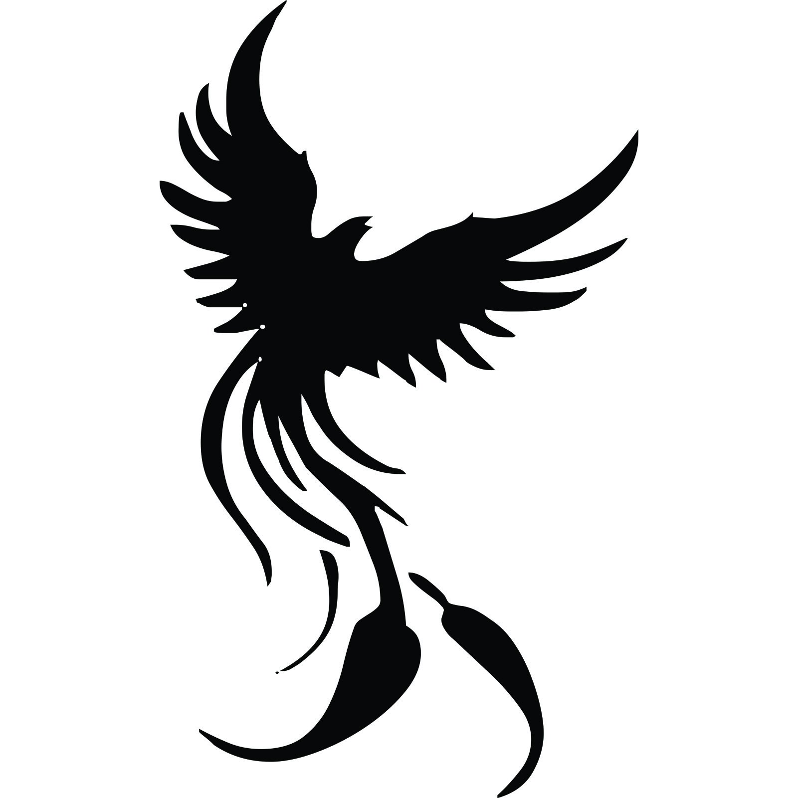 Phoenix Rising Mythical Wall Sticker