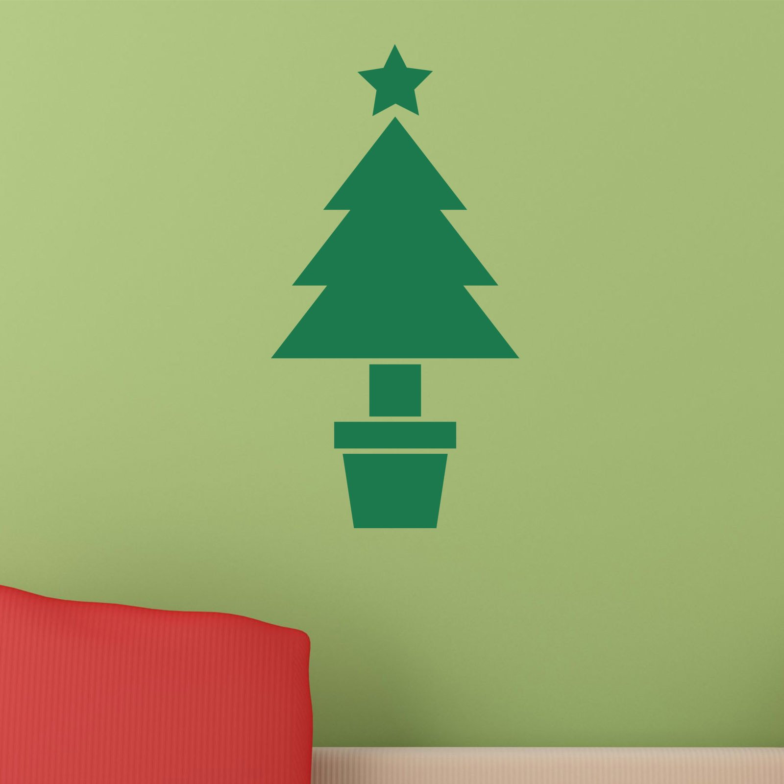 Christmas tree in pot wall sticker world of wall stickers amipublicfo Images
