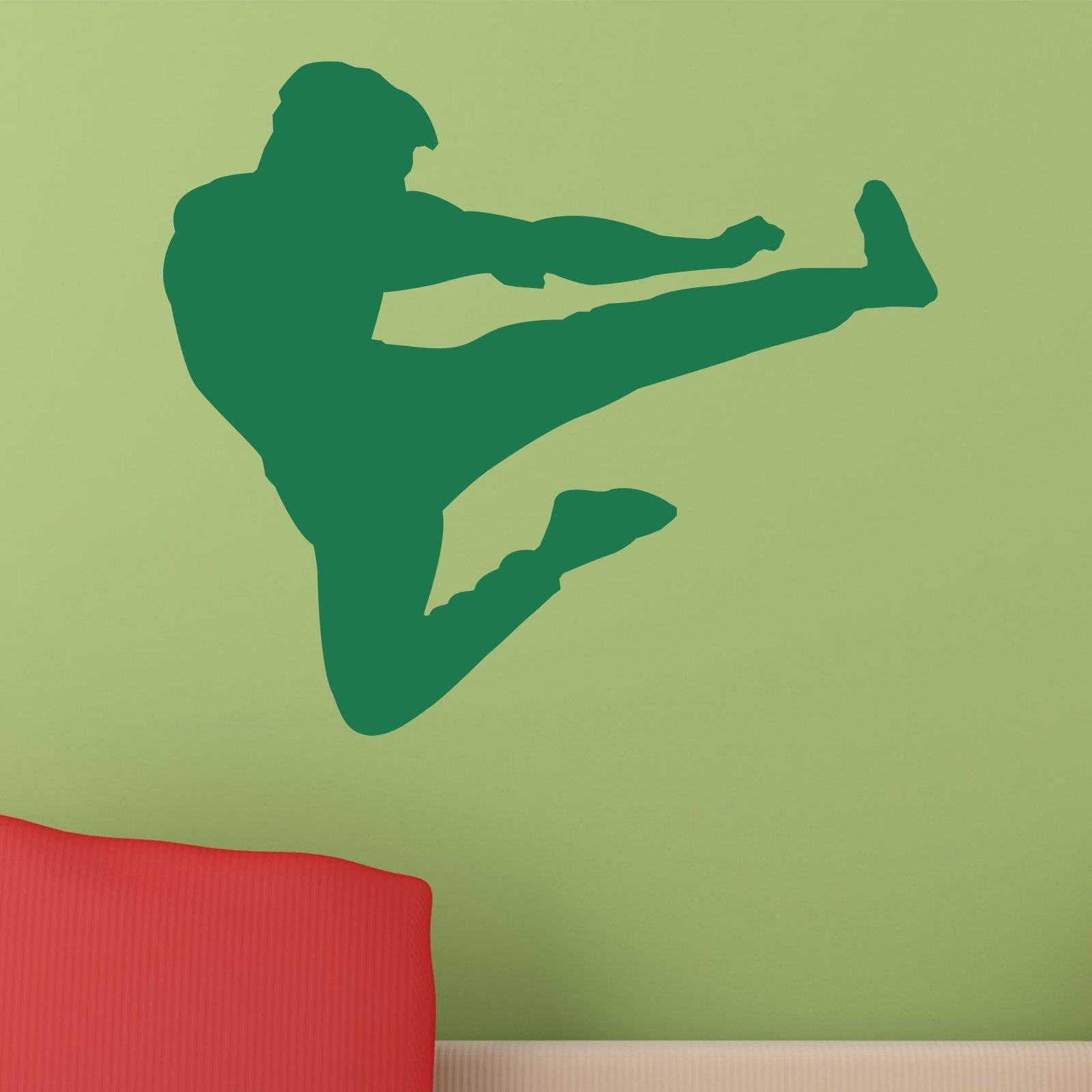 Home / HOBBIES u0026 SPORTS / Martial Arts & Martial Arts Flying Kick Karate Kung Fu Wall Sticker - World of Wall ...