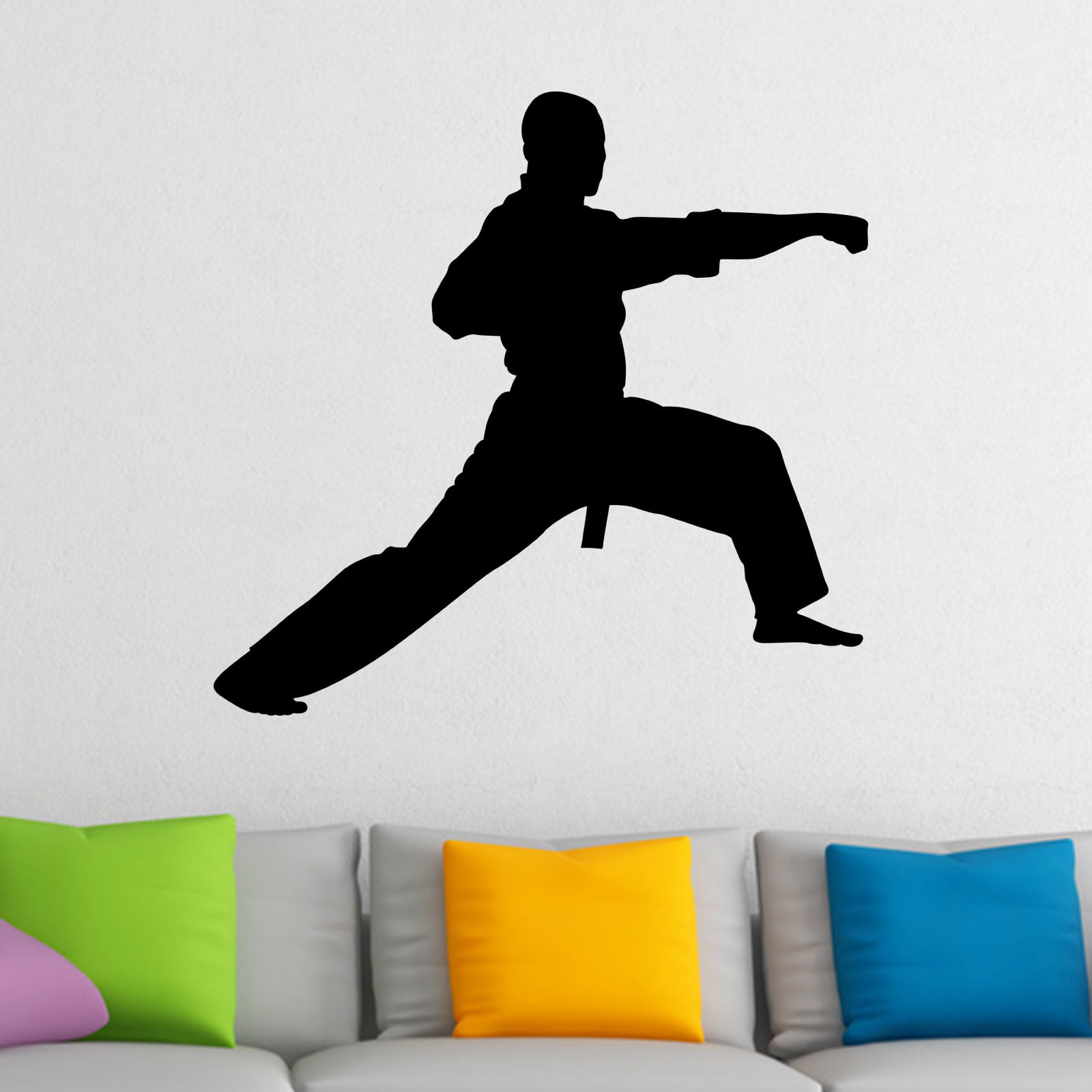 Martial Arts Punch Karate Kung Fu Wall Sticker World Of